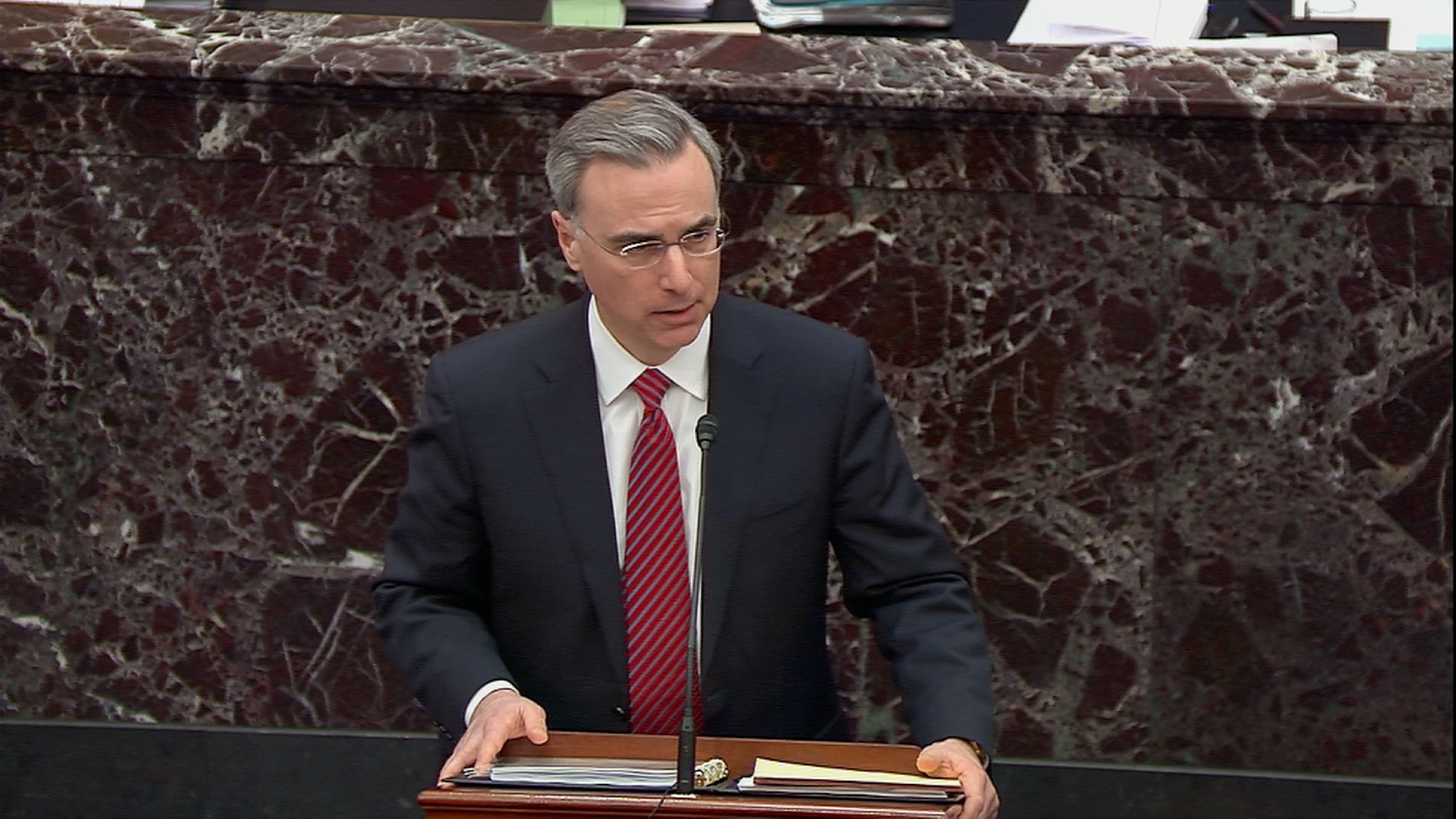 Pat Cipollone speaks on the Senate floor.