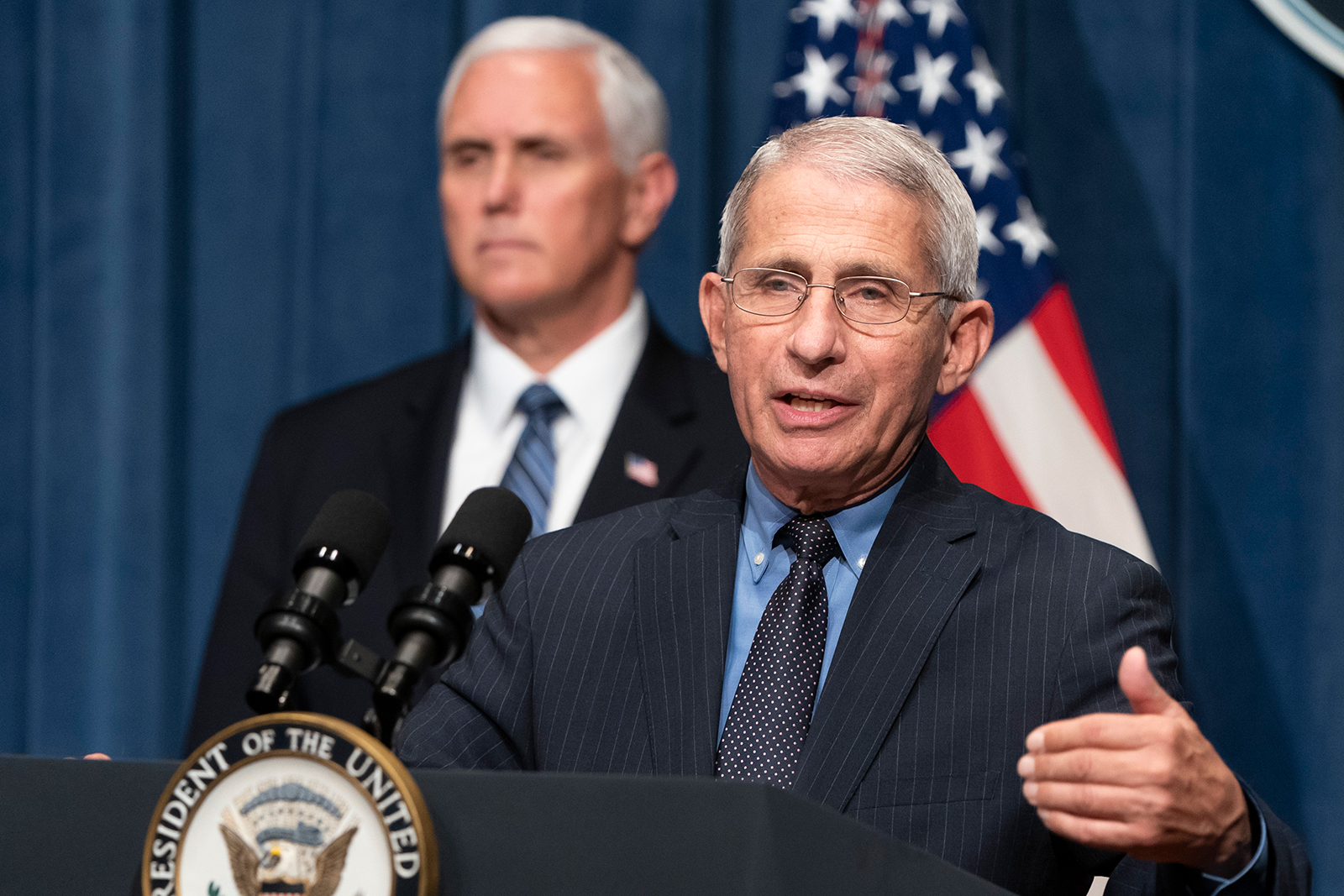 Dr. Anthony Fauci speaks at the White House coronavirus task force briefing at the Department of Health and Human Services in Washington, DC on June 26.