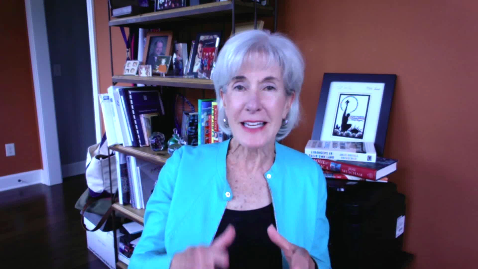 Former US secretary of health and human services Kathleen Sebelius.