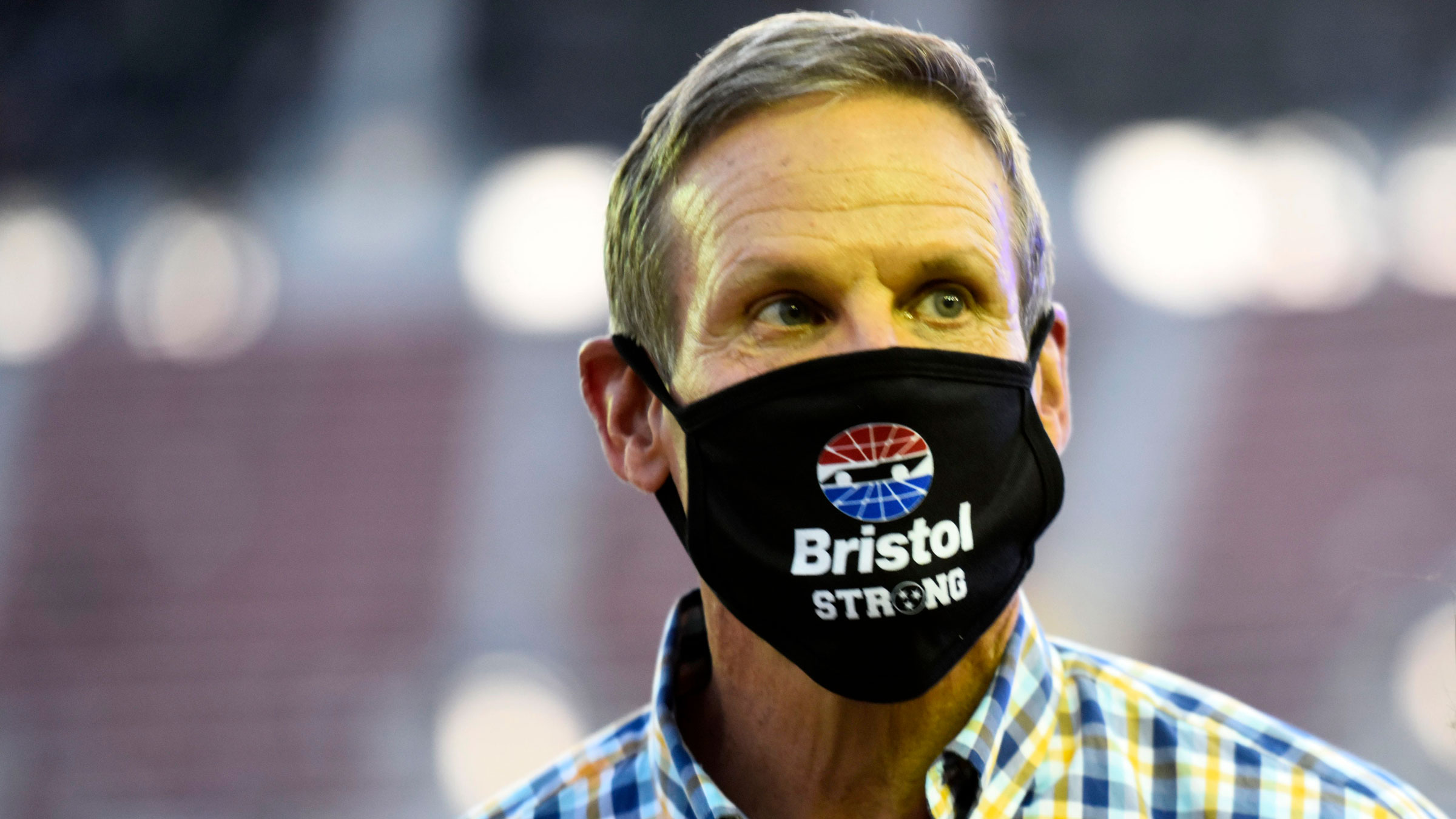 Tennessee Gov. Bill Lee attends a NASCAR race in July.