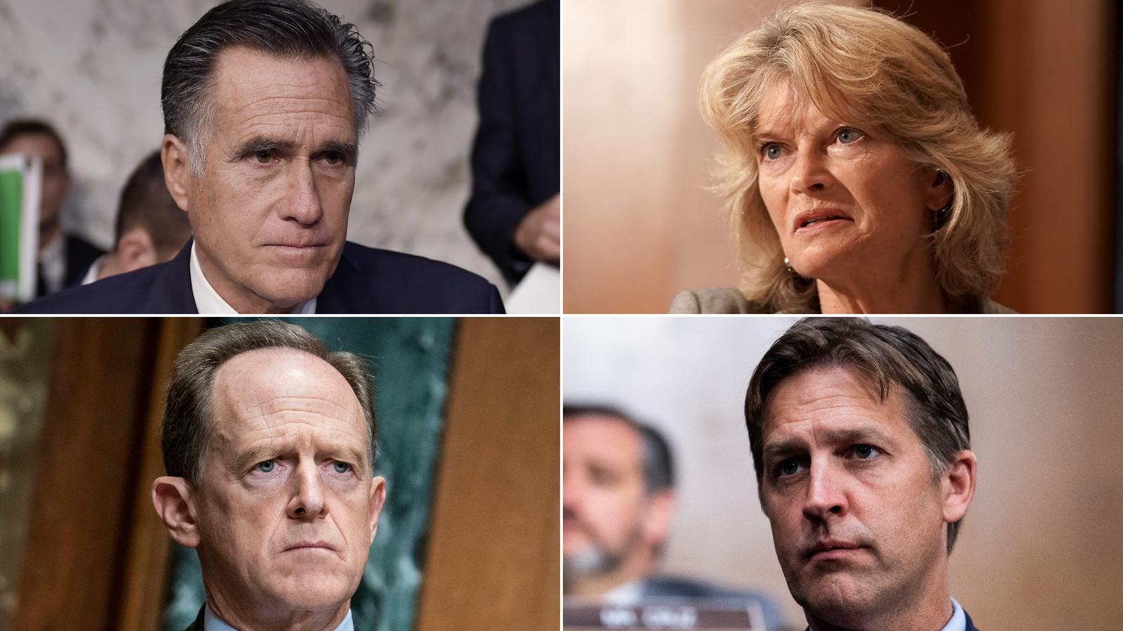 Sens. Mitt Romney, Lisa Murkowski, Pat Toomey and Ben Sasse.