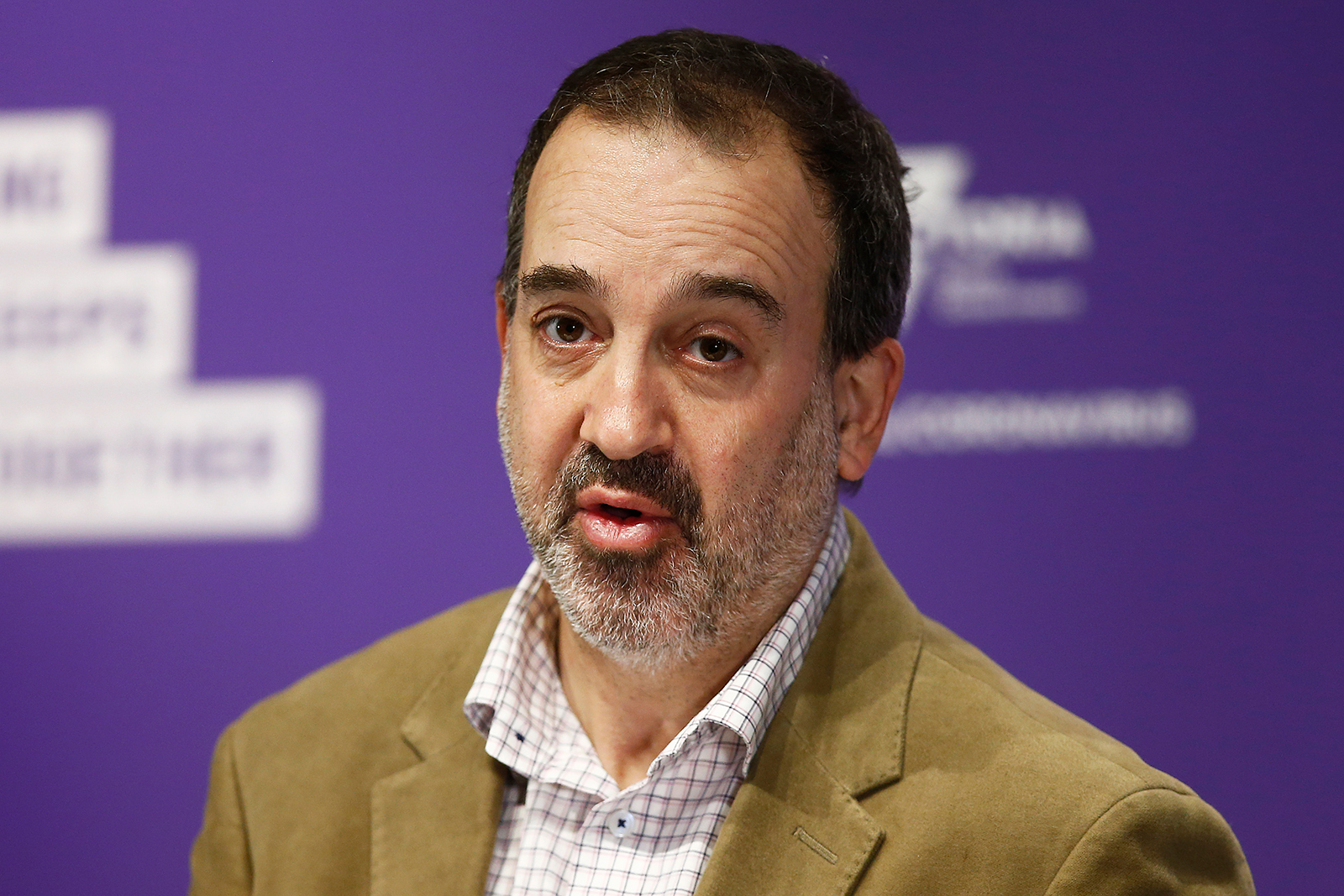 Victoria's Minister for Jobs, Innovation and Trade, Martin Pakula speaks to the media during a news conference in Melbourne, Australia, on Sept. 14.