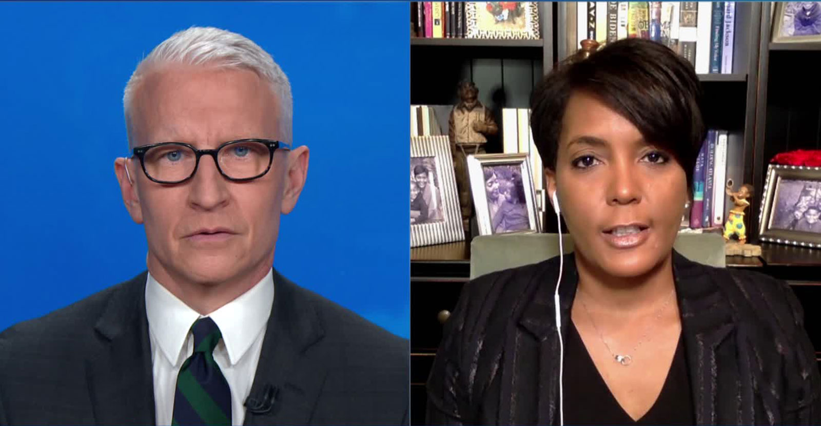 Atlanta Mayor Keisha Lance Bottoms speaks with CNN's Anderson Cooper on Friday night.