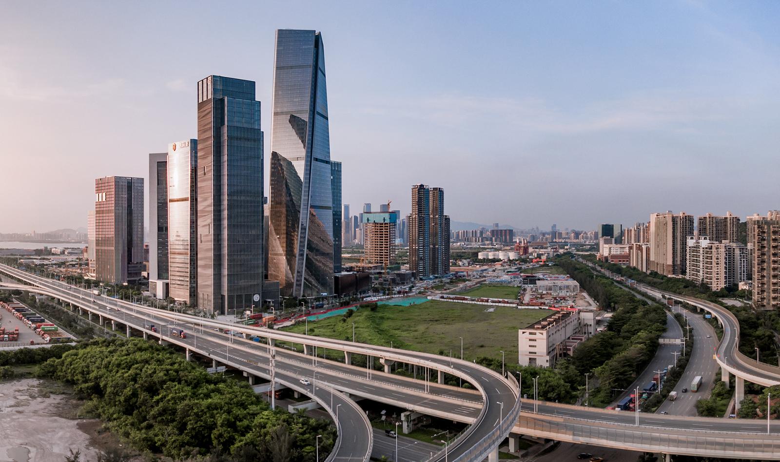 Shimao Qianhai Center in Shenzhen, China.
