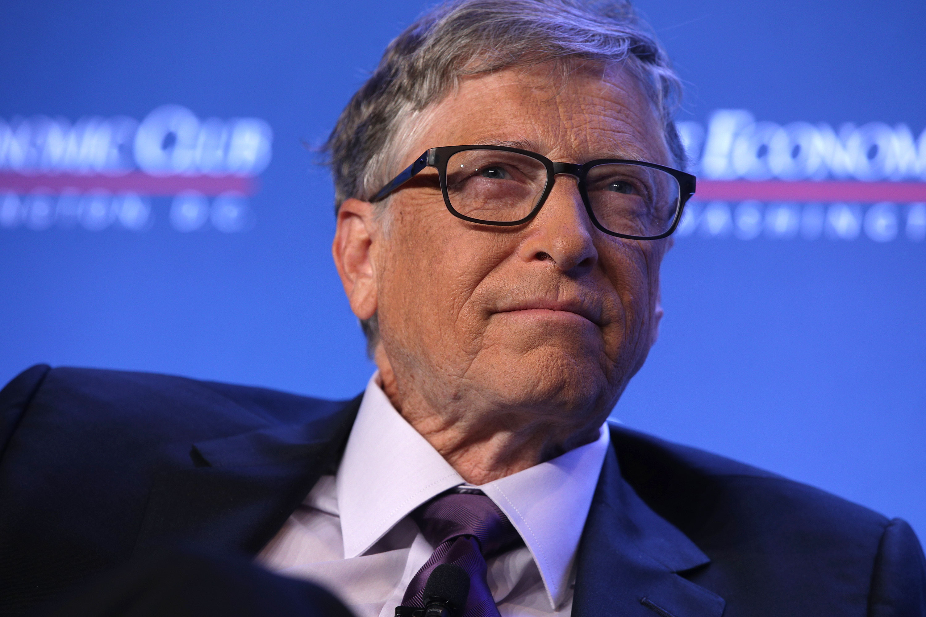 Bill Gates participates in a discussion at the Economic Club of Washington on June 24, 2019 in Washington.