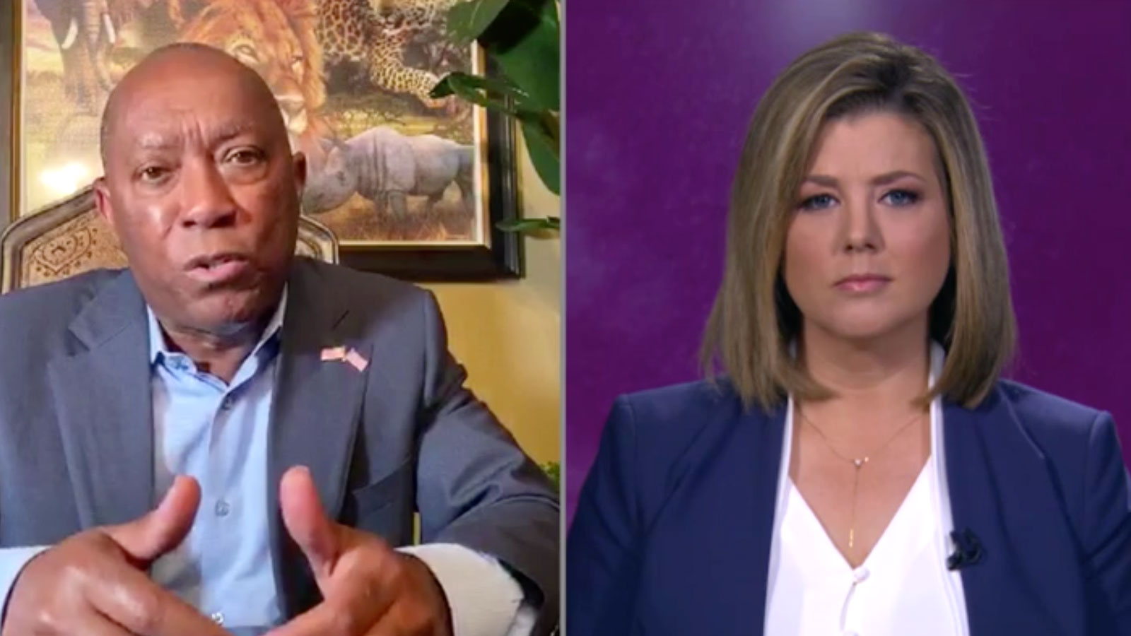 Houston, Texas, Mayor Sylvester Turner and CNN's Brianna Keilar.