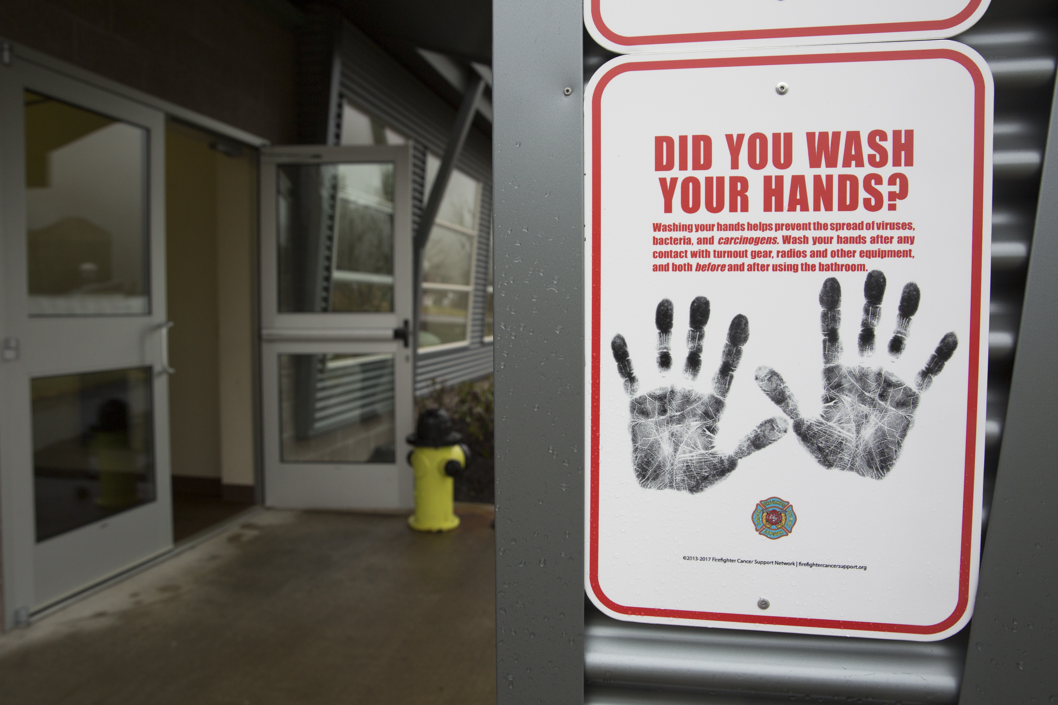 A sign outside a quarantine site in North Bend, Washington, on February 6, 2020.