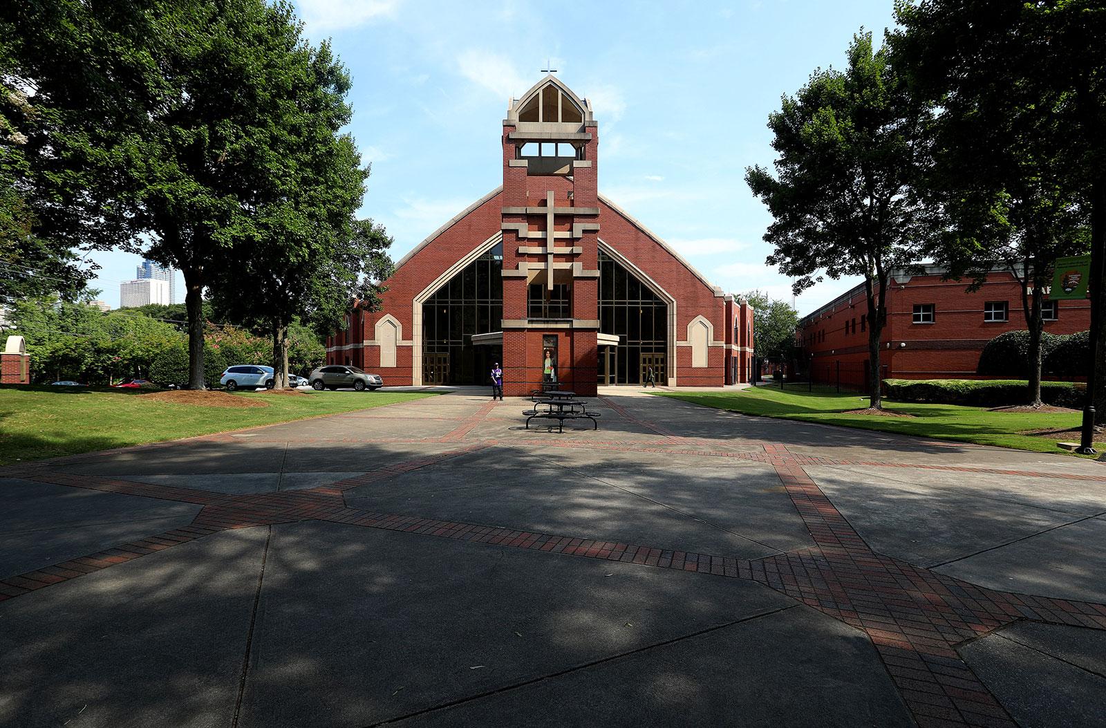 The exterior of Ebenezer Baptist Church in Atlanta, Georgia.