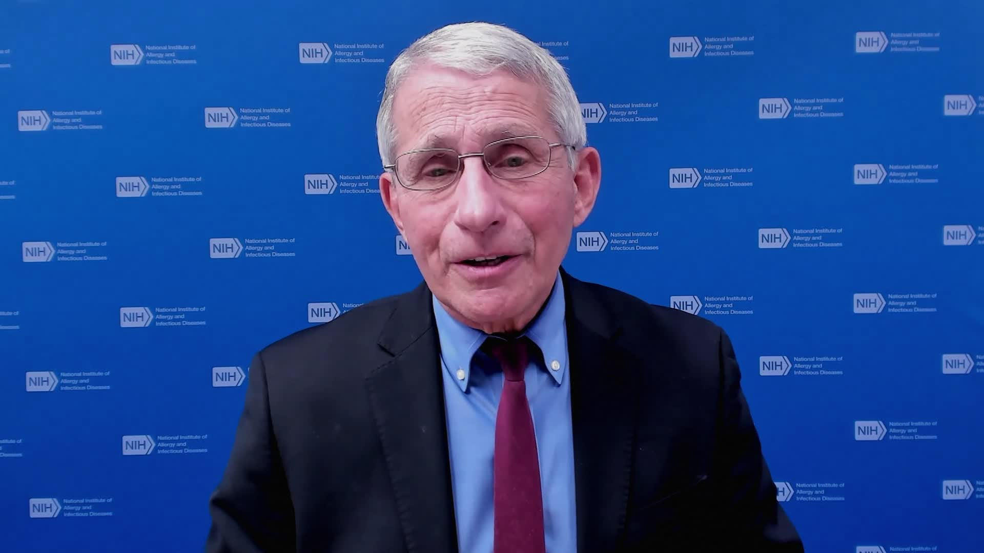 Dr. Anthony Fauci speaks during an interview on February 1.