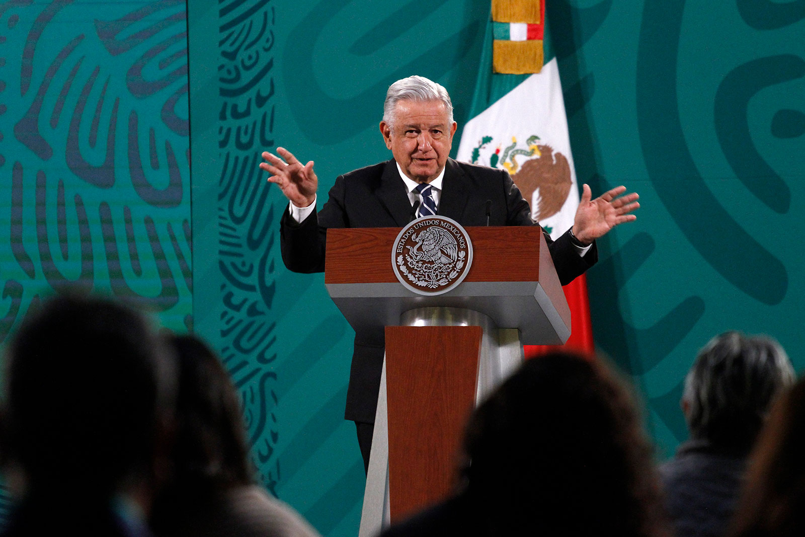 Mexico's President Andrés Manuel López Obrador speaks at a press conference in Mexico City on April 9.