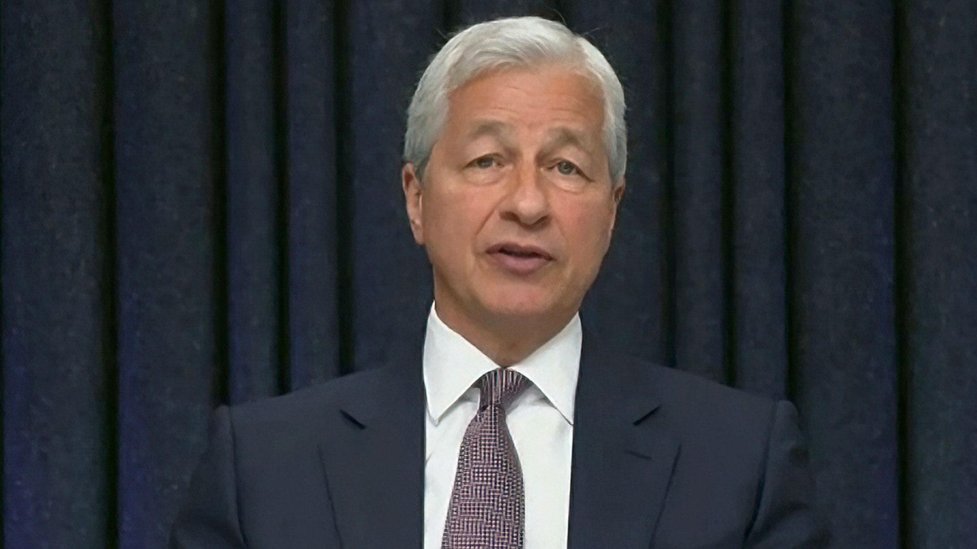 JPMorgan Chase CEO Jamie Dimon testifies to the Senate Banking Committee on Wednesday.