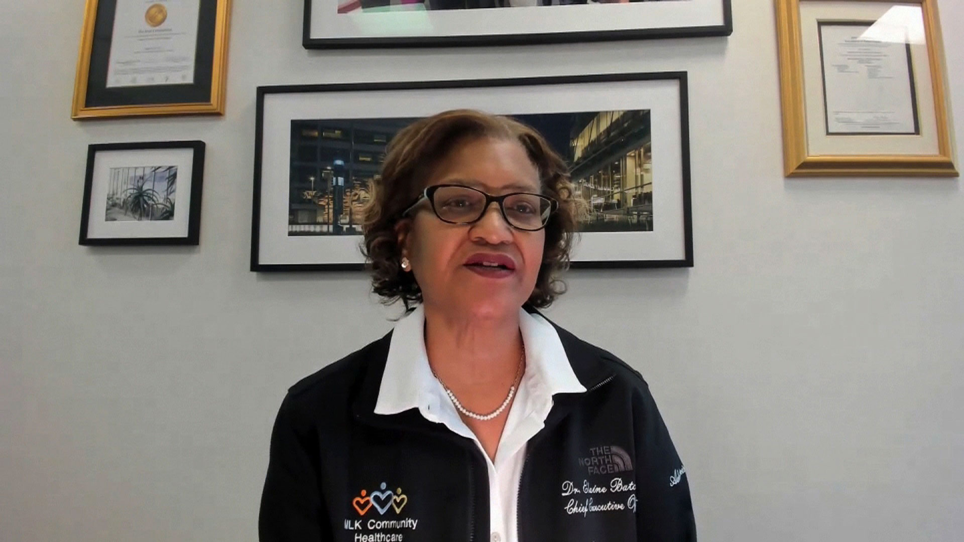 Dr. Elaine Batchlor, CEO of Martin Luther King Jr. Community Hospital in Los Angeles, speaks with CNN on December 28.