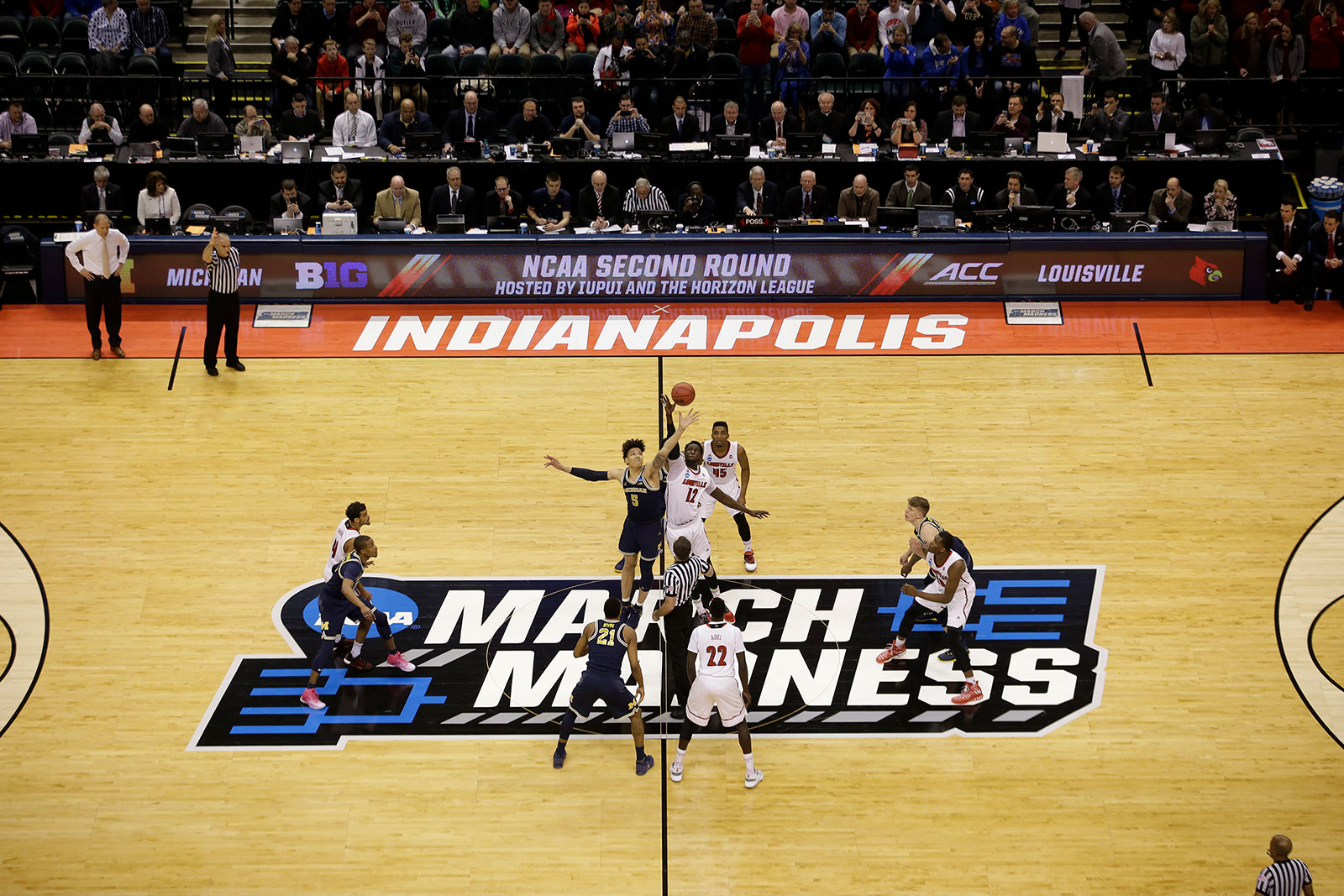 Indianapolis hosted the first and second rounds of the NCAA men's basketball tournament in 2017.
