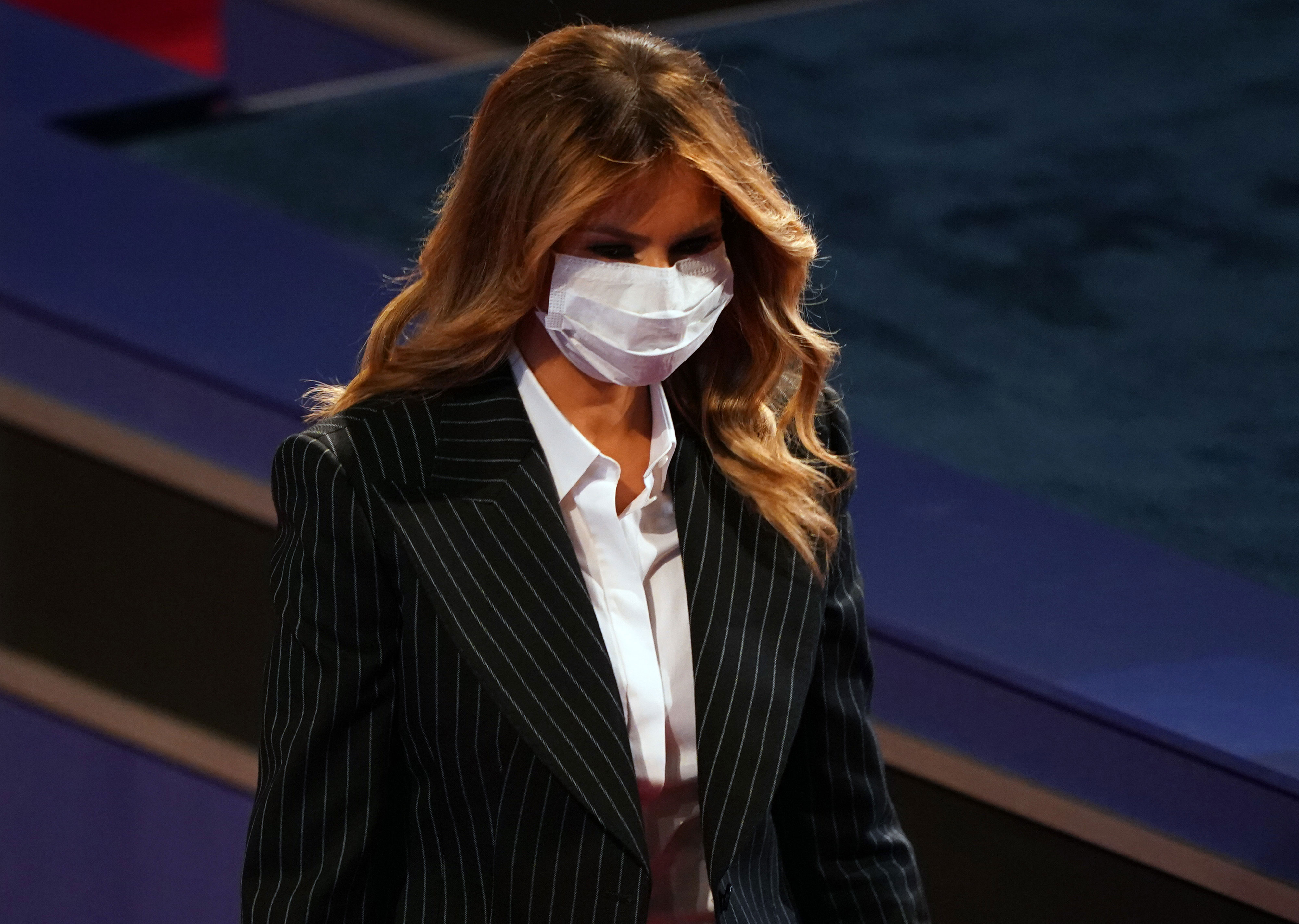 First lady Melania Trump attends the presidential debate in Cleveland on September 29.