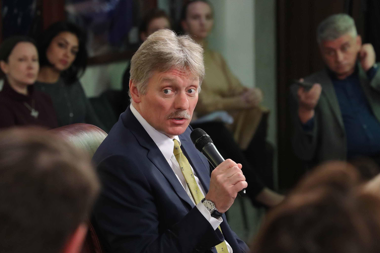 Dmitry Peskov speaks at a news conference on November 25. Photo: Sergei Karpukhin\TASS via Getty Images