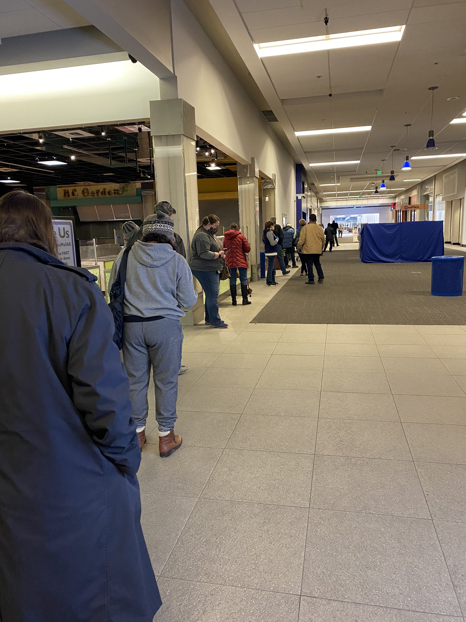 Early voting at the Midtown Mall in Anchorage, Alaska.
