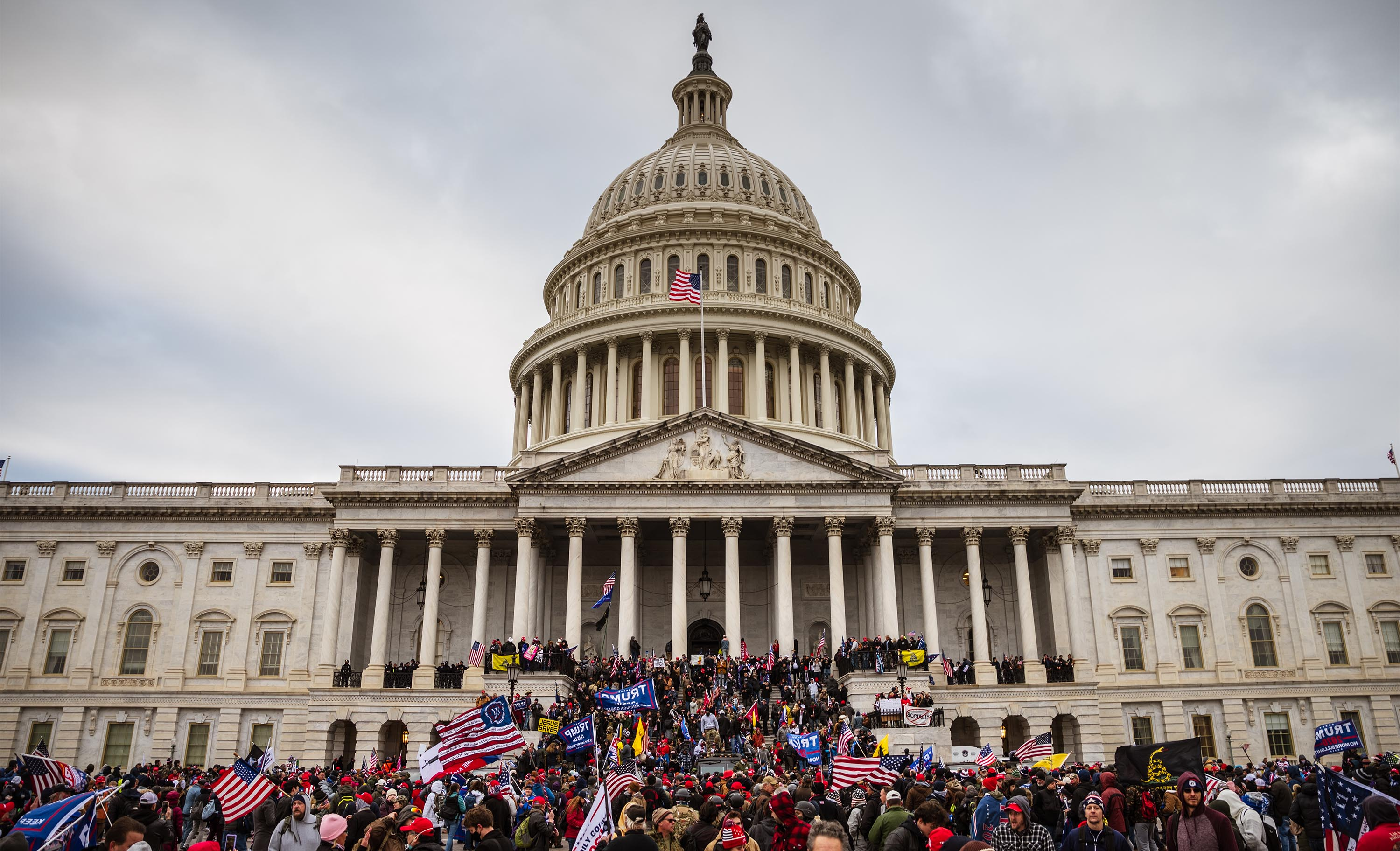 Rioters storm the Capitol building in Washington, DC, on January 6.