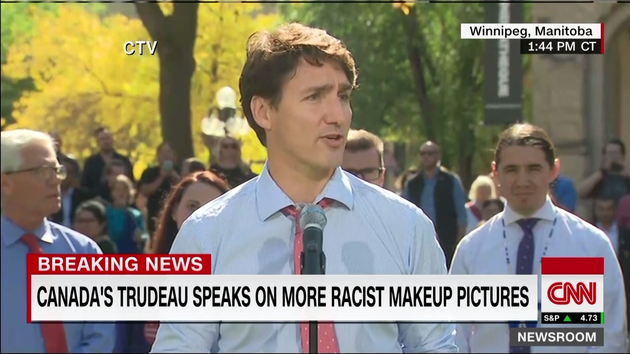 "Trudeau: ""I deeply, deeply regret"" racist makeup photos"