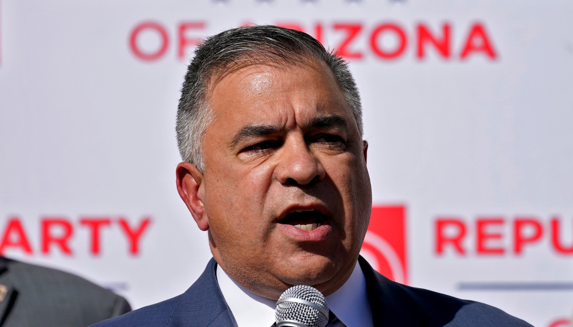 Citizens United President David Bossie speaks during an Arizona Republican Party news conference on November 5 in Phoenix.