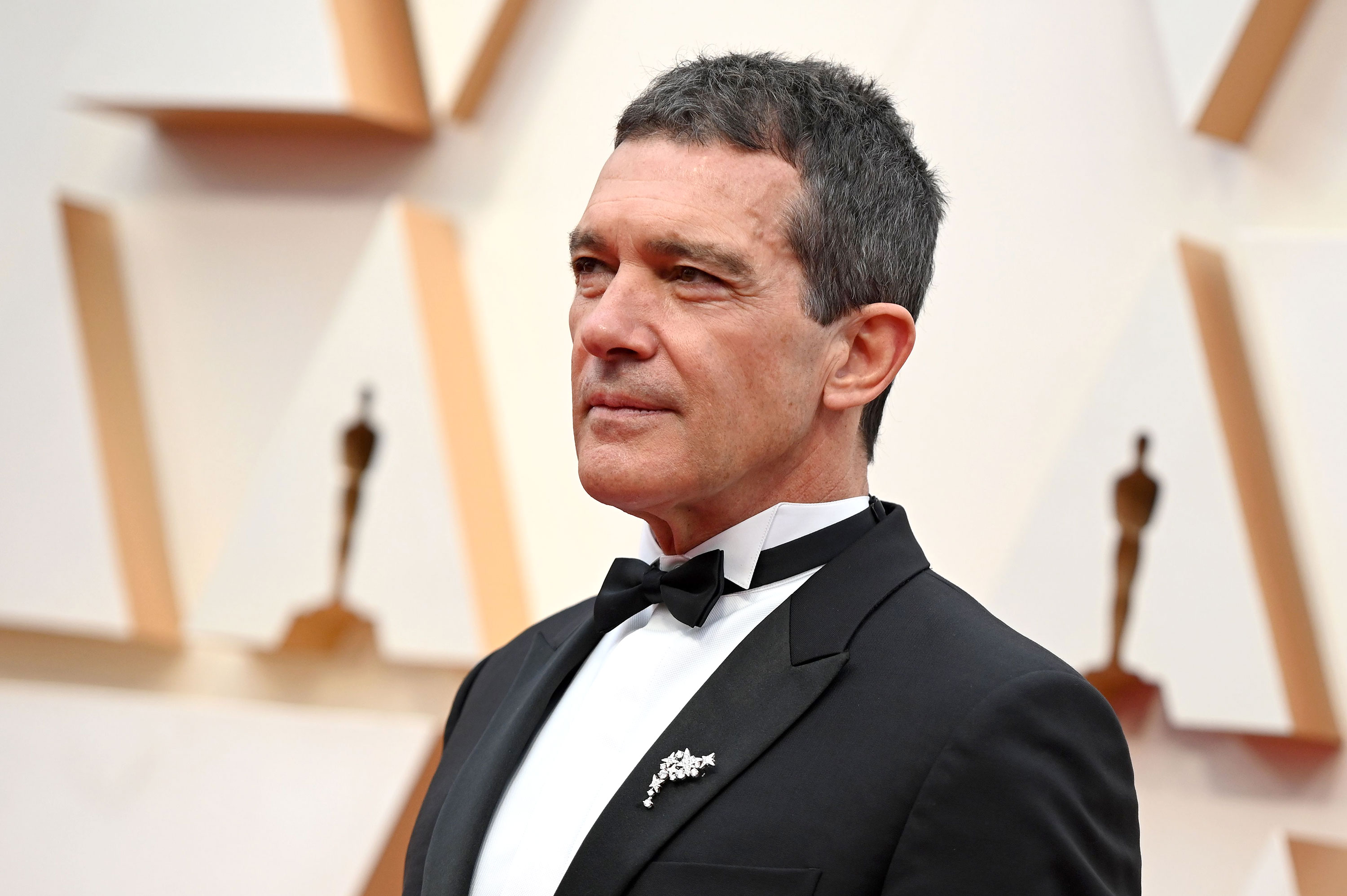 Antonio Banderas arrives for the 92nd Oscars at the Dolby Theatre in Hollywood, California on February 9.