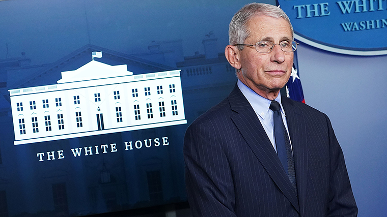 Director of the National Institute of Allergy and Infectious Diseases Dr. Anthony Fauci takes part in the daily briefing on the novel coronavirus, COVID-19, i at the White House on April 1.