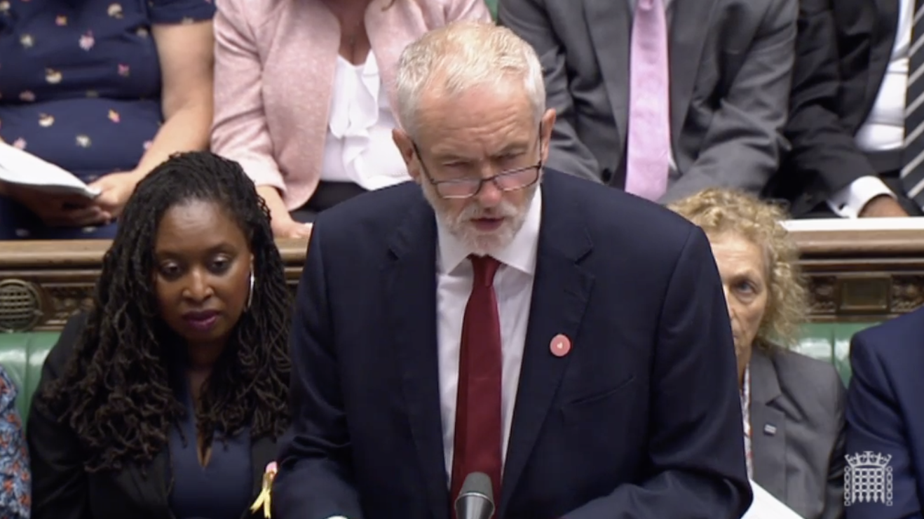 Labour leader Jeremy Corbyn in the House of Commons.