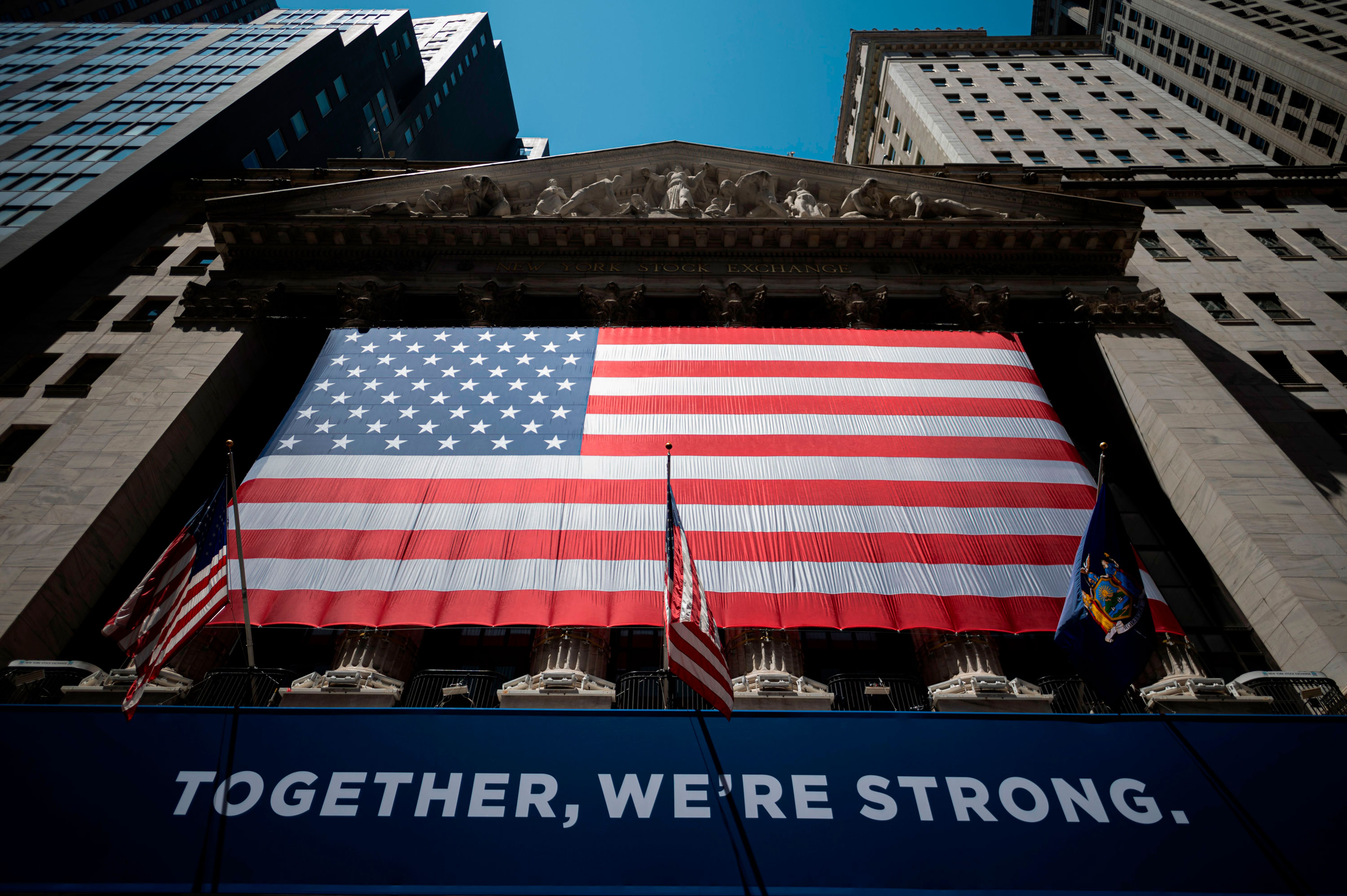 The New York Stock Exchange is pictured on May 26 at Wall Street in New York.