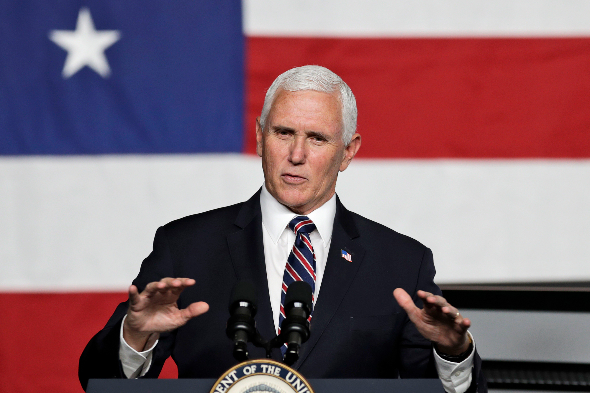 Vice President Mike Pence at Lordstown Motors Corporation, Thursday, June 25, 2020, in Lordstown, Ohio.
