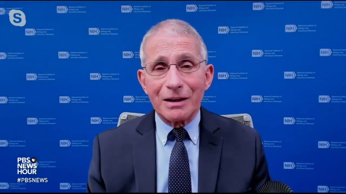 Dr. Anthony Fauci appeared on PBS Newshour on December 21.