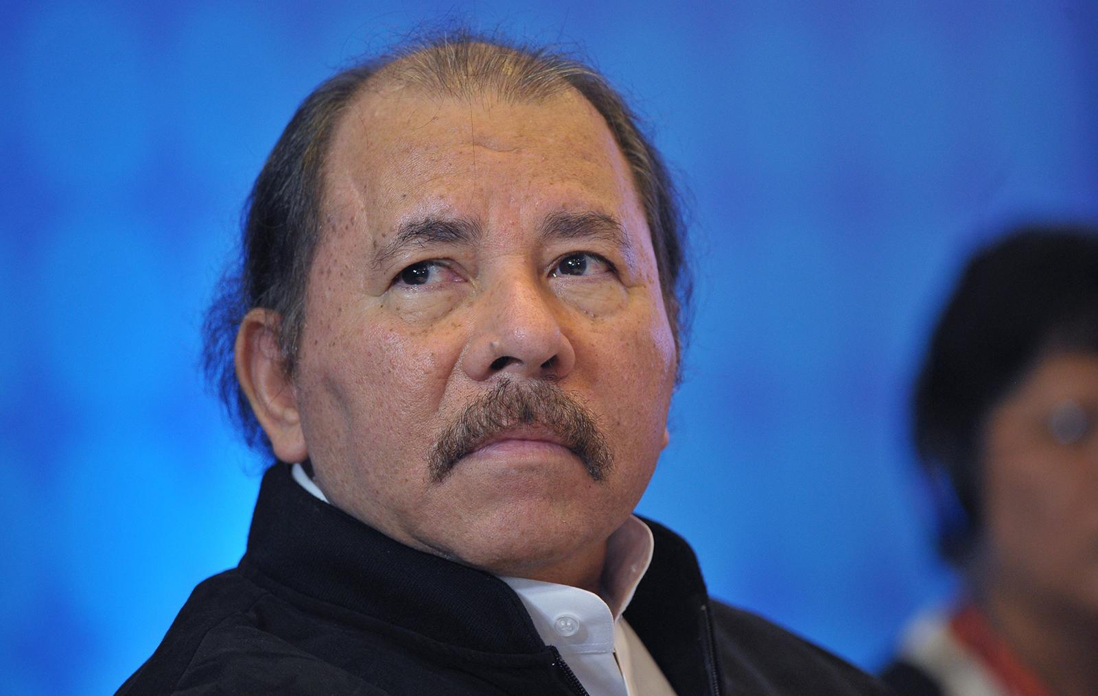 Nicaraguan President Daniel Ortega attends a meeting in Panama City on April 10, 2015.