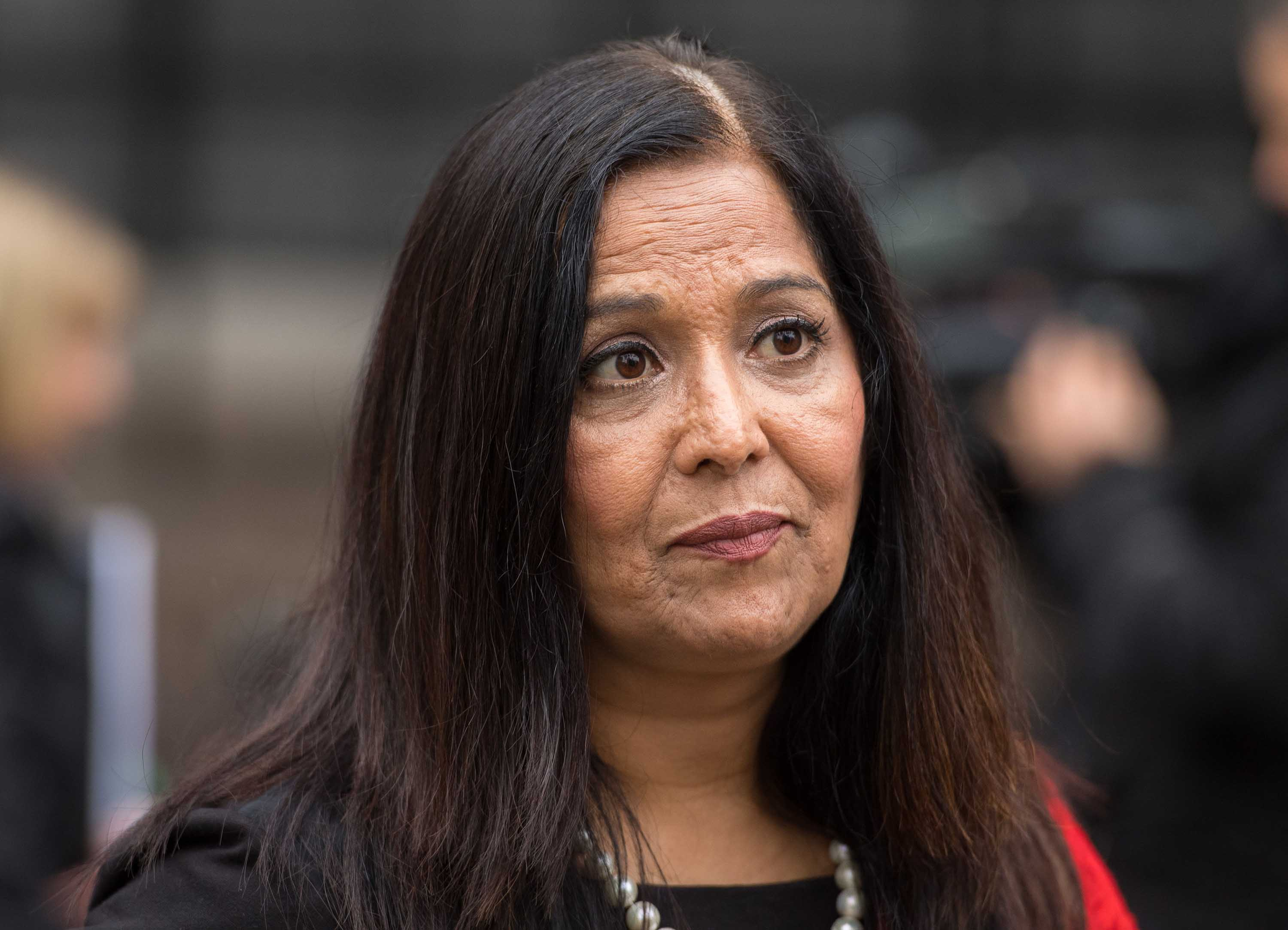 British MP Yasmin Qureshi is pictured in London in November 2017.