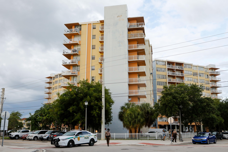 The Crestview Towers Condominium building in North Miami Beach, Florida, on July 2, 2021.