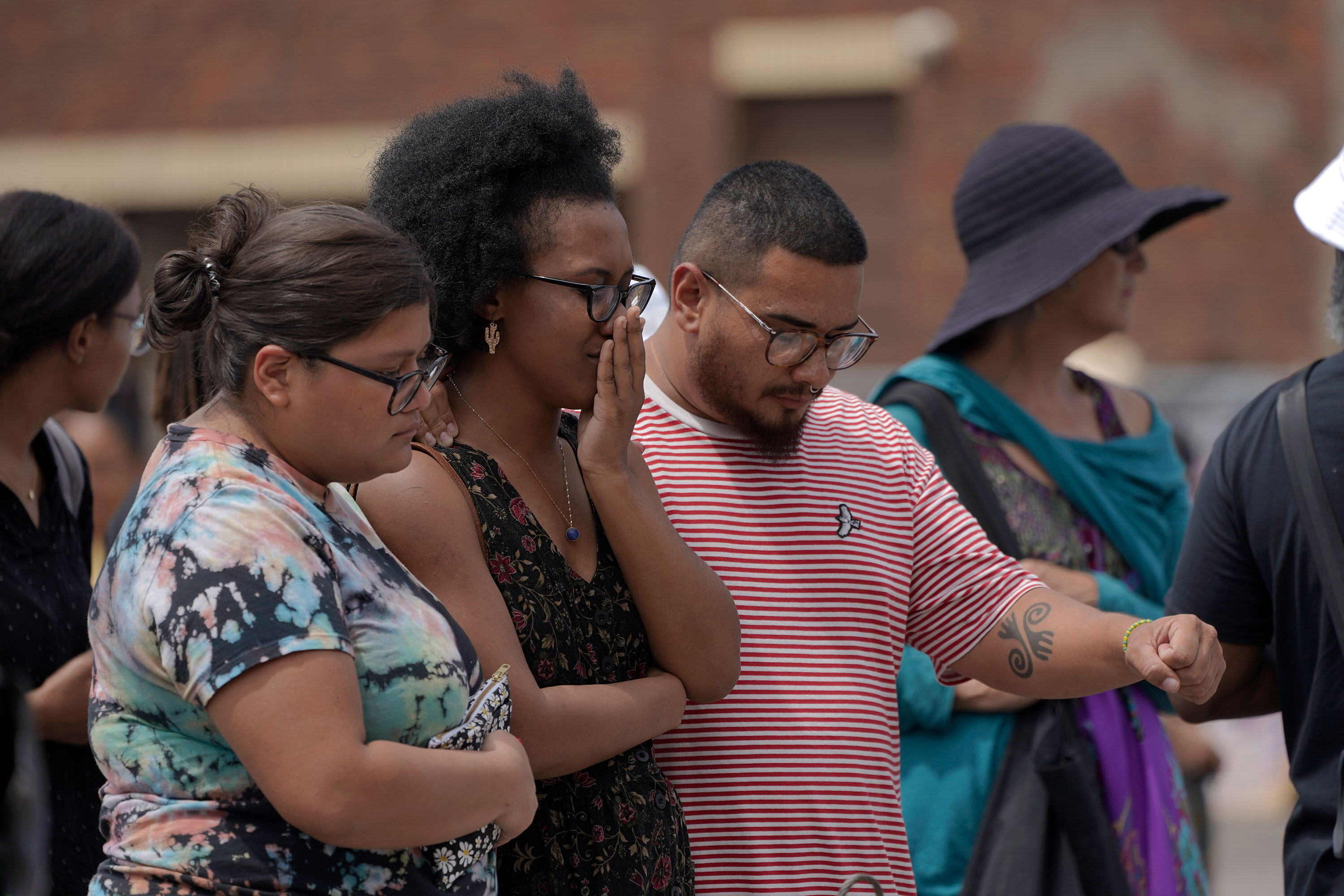 Supporters gather at George Floyd Square, the location where Floyd was killed, on June 25.