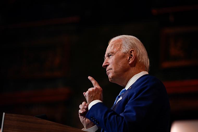 President-elect Joe Biden speaks in Wilmington, Del.on Nov. 25, 2020.