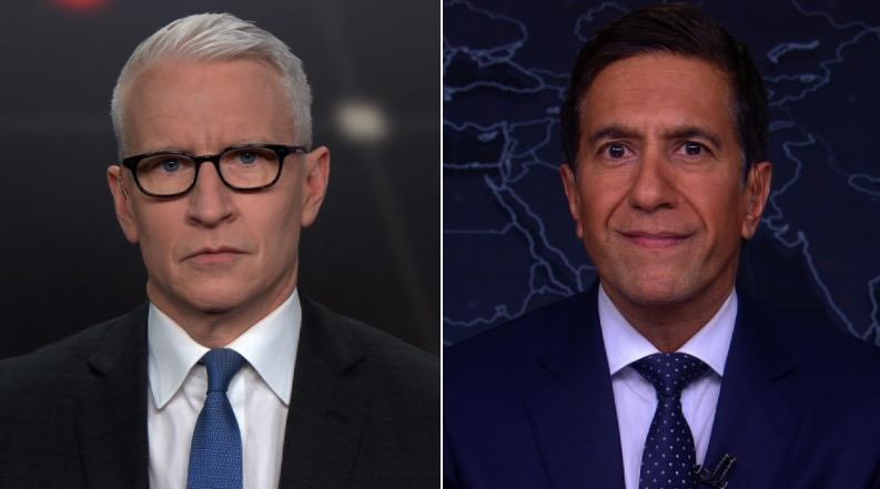 CNN's Anderson Cooper and Sanjay Gupta.