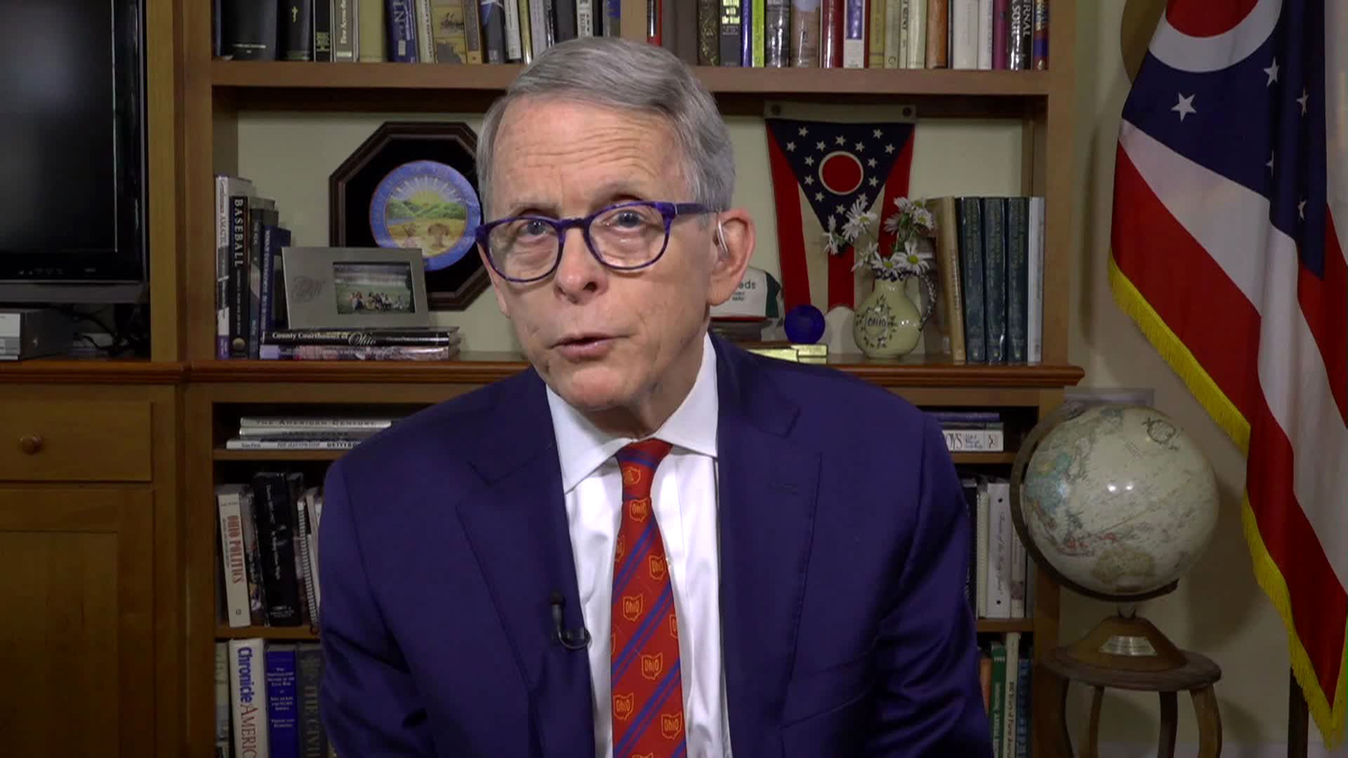 Ohio Gov. Mike DeWine speaks with CNN on Tuesday, November 3.