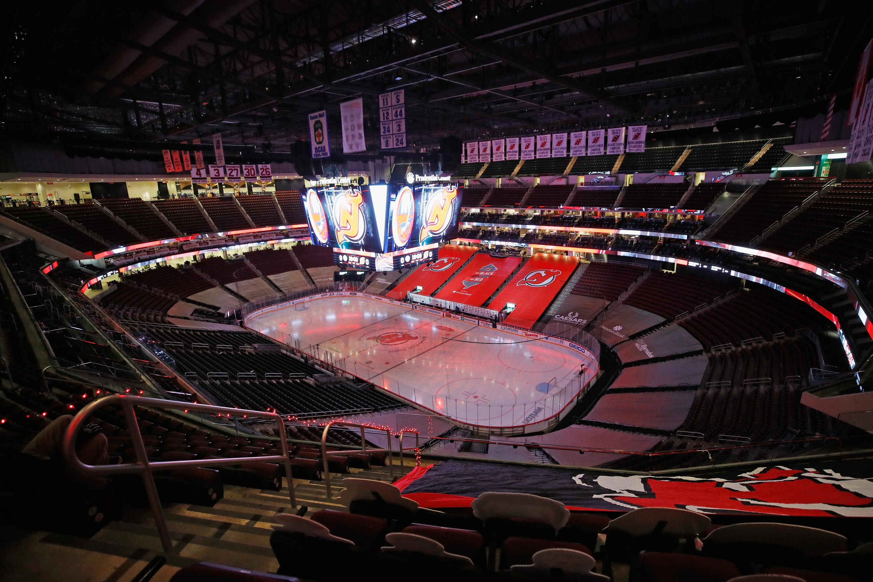 A general view of the arena is seen at the Prudential Center on January 24 in Newark, New Jersey.