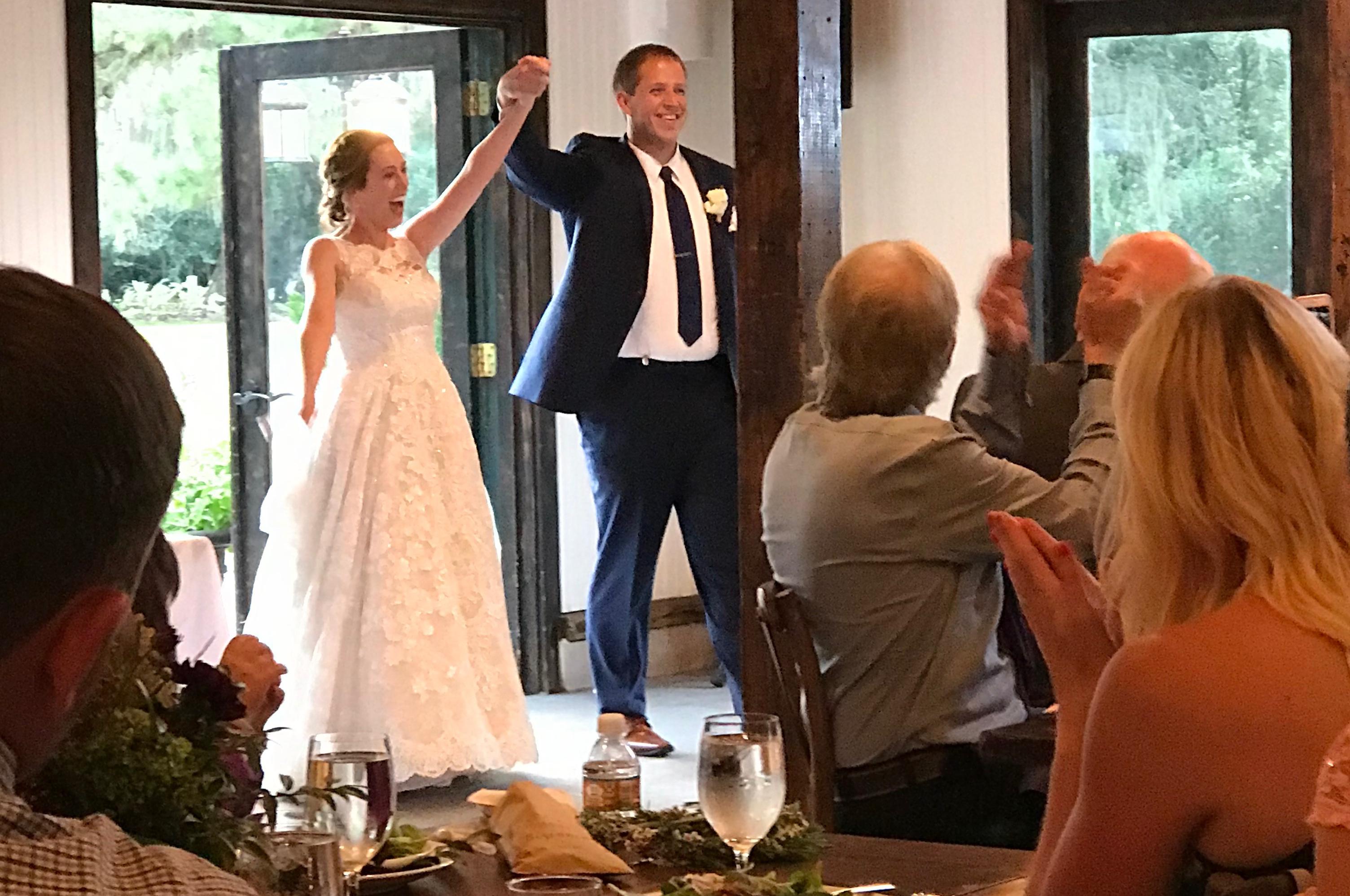 Matthew Urey and his new wife Lauren at their wedding on October 18.