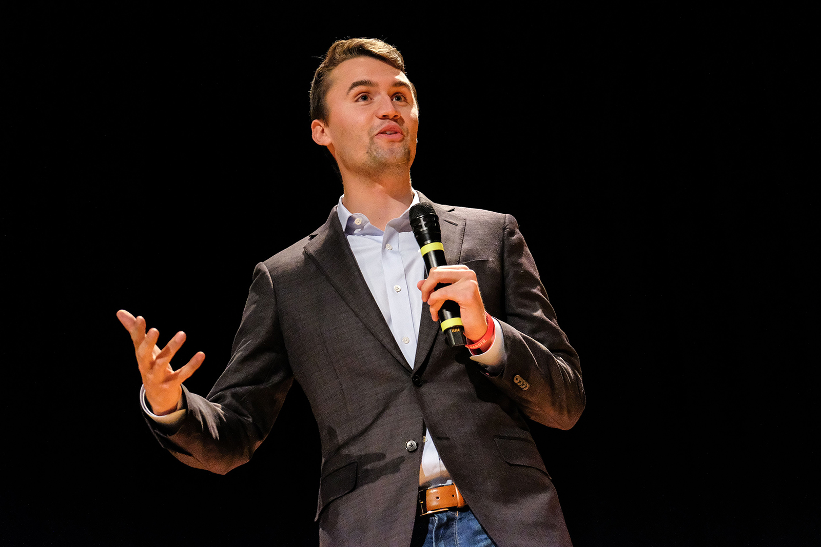 Charlie Kirk speaks at Culture War Turning Point USA event at the Ohio State University in Columbus, Ohio, on October 29, 2019.