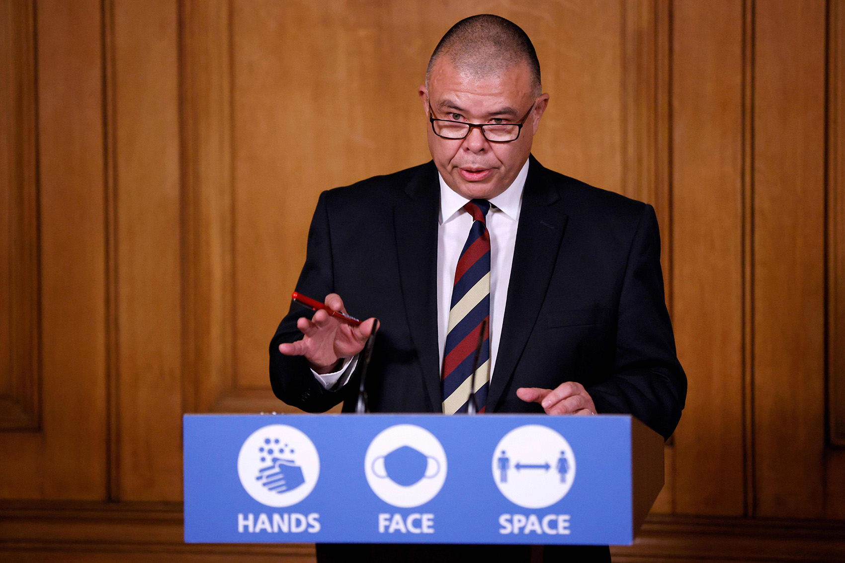 Britain's Deputy Chief Medical Officer for England Jonathan Van-Tam speaks during a virtual press conference inside 10 Downing Street in London, on December 2, 2020.