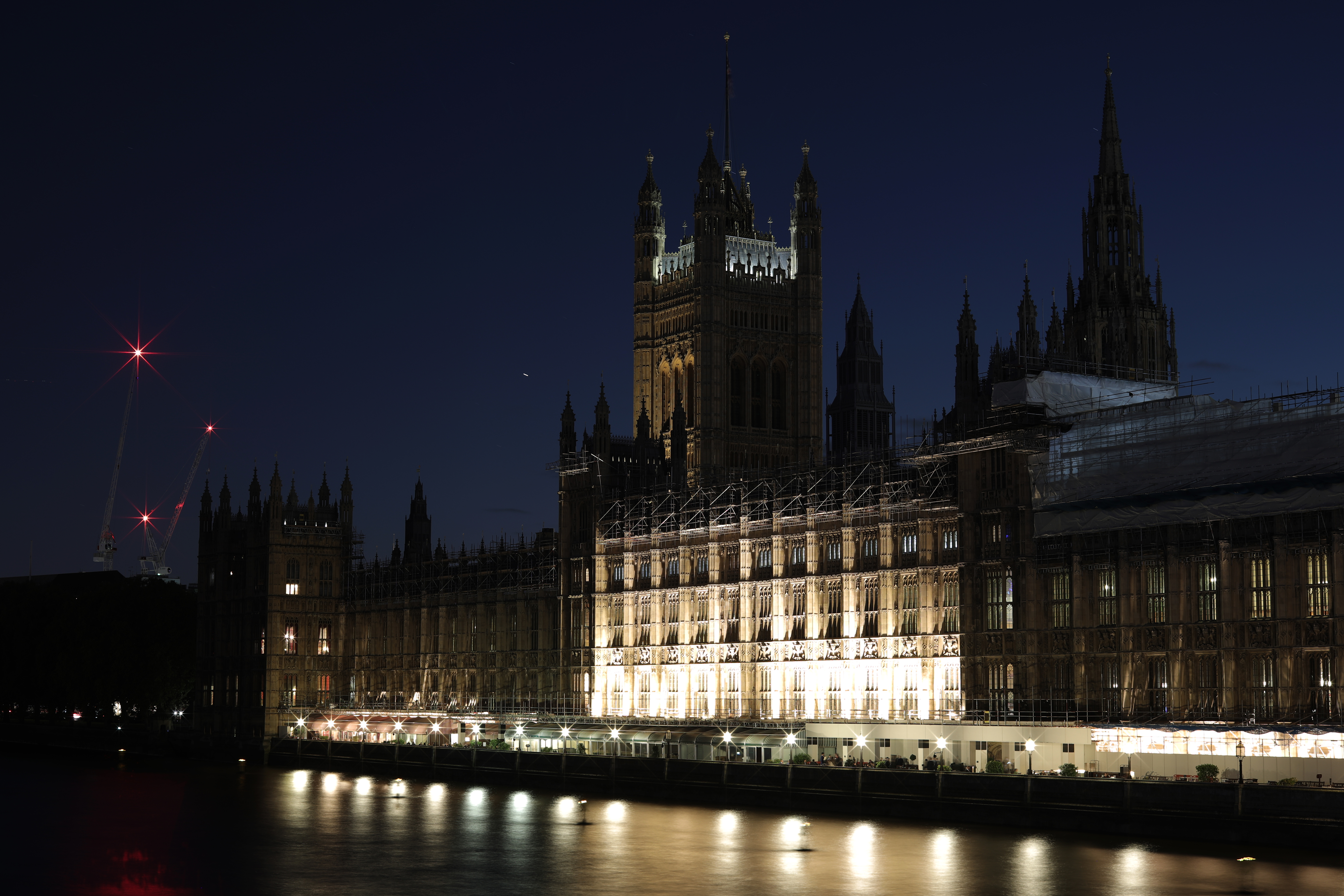 A general view of the Houses of Parliament on October 22.