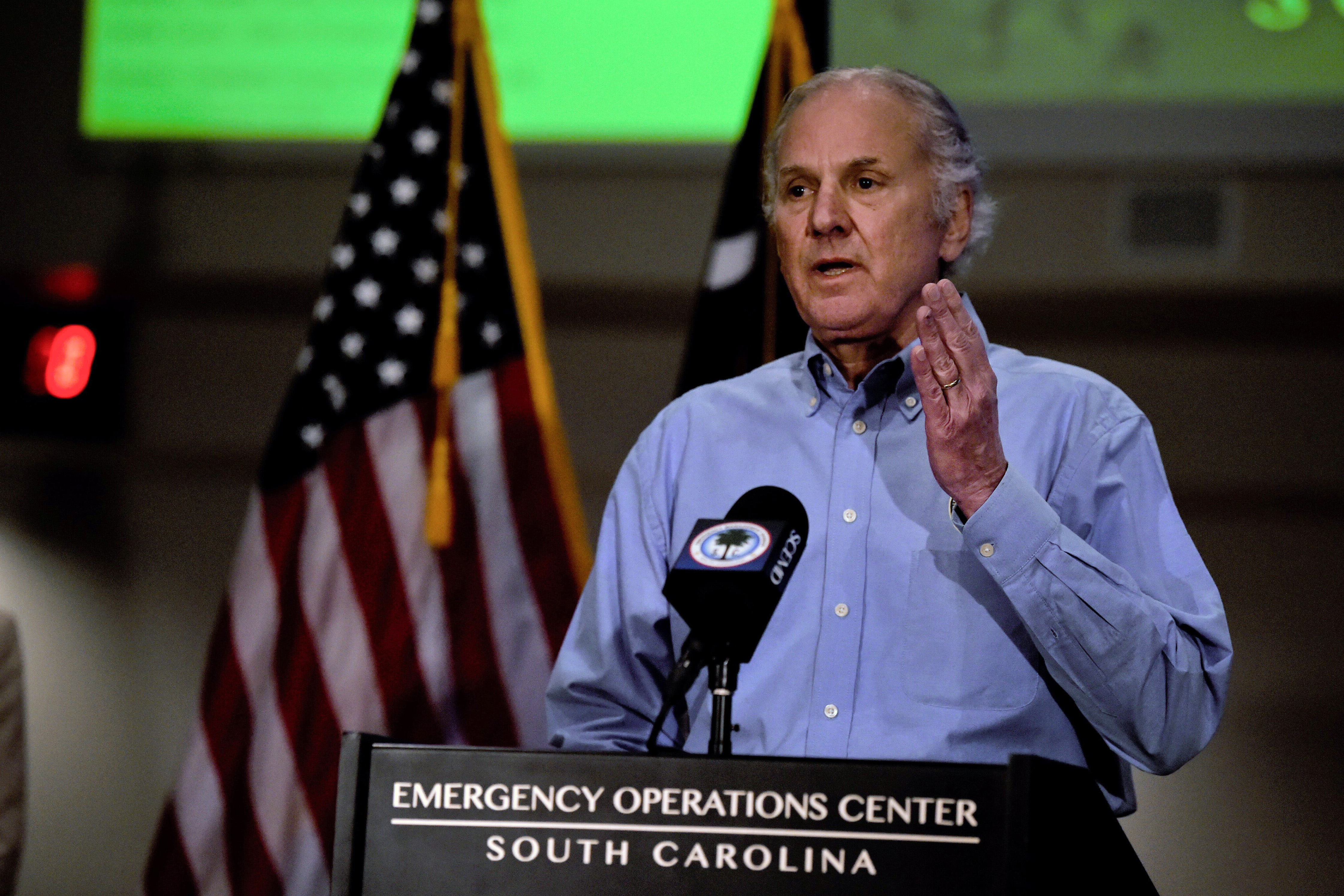 South Carolina Gov. Henry McMaster speaks at a Covid-19 briefing in West Columbia, South Carolina, on April 3.