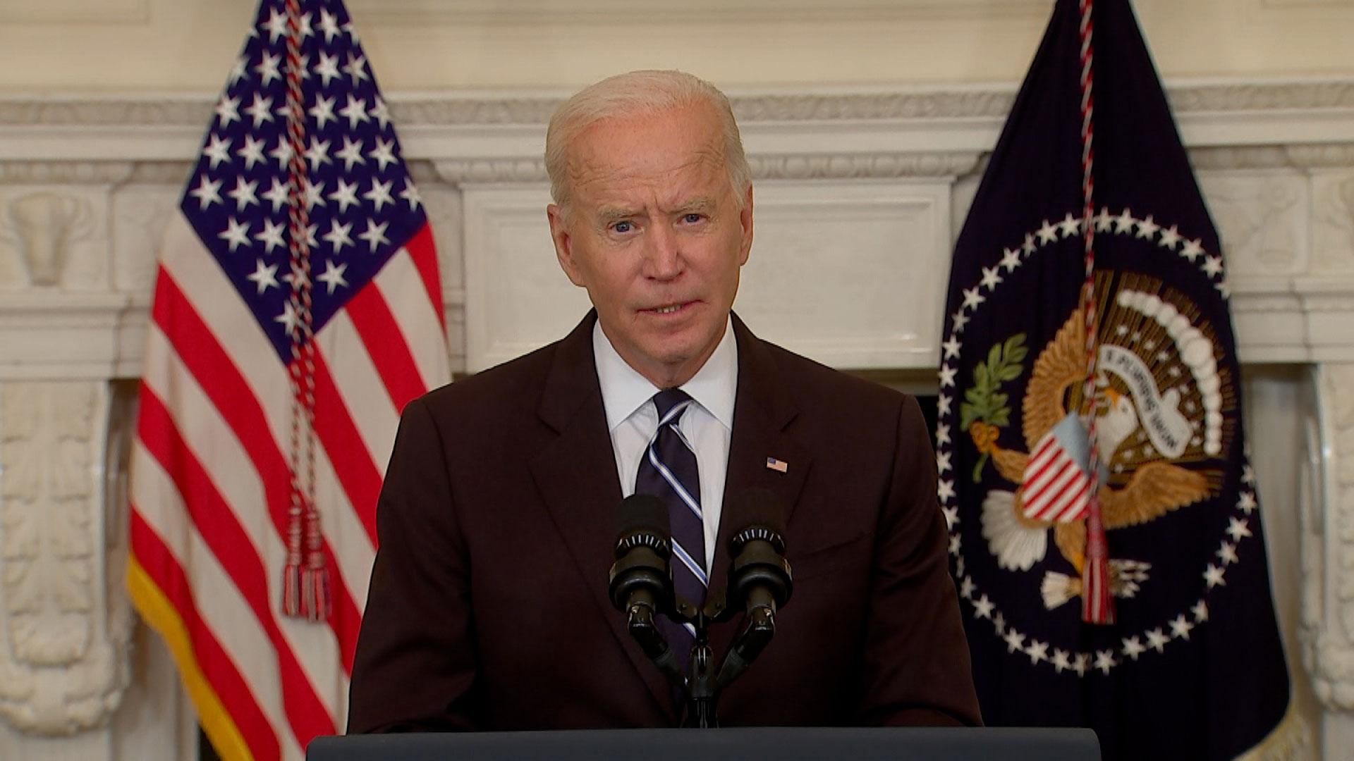 President Joe Biden speaks from the White House on September 9.