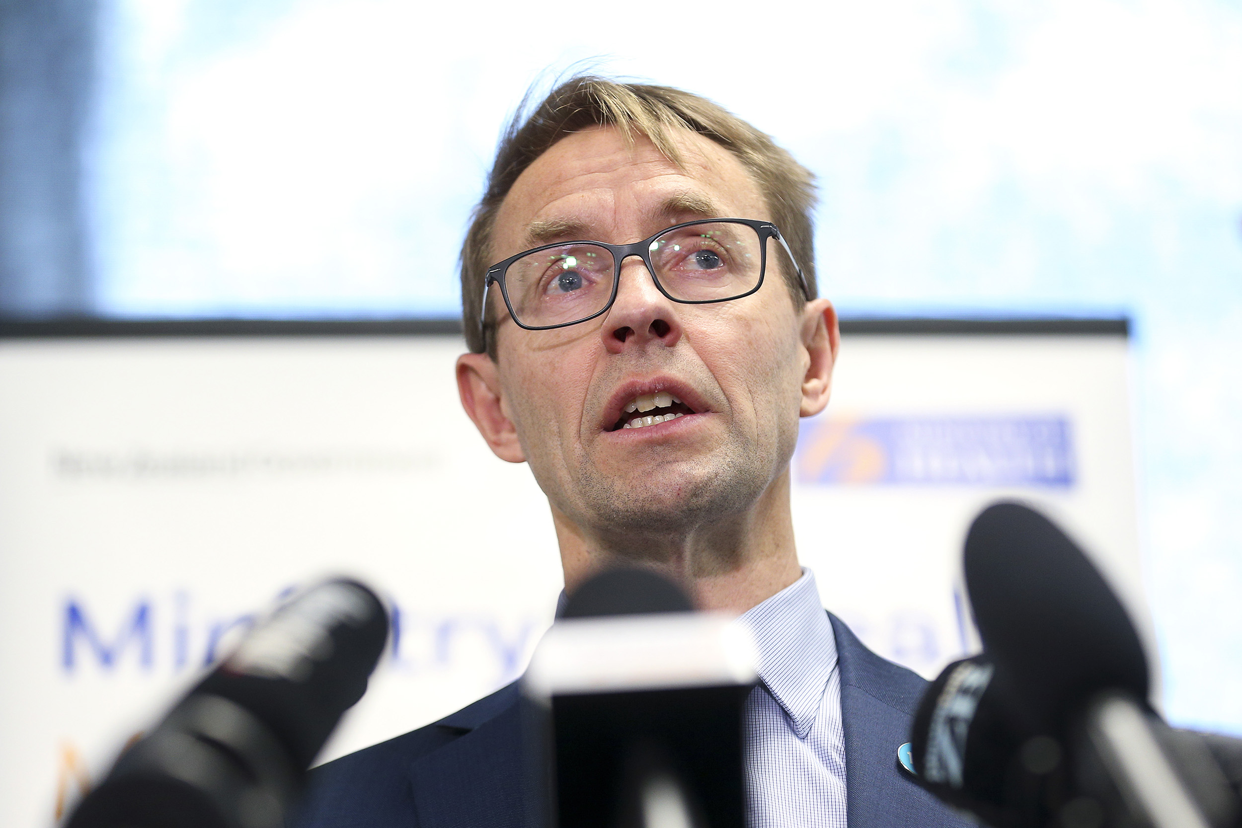 Director-General of Health Dr. Ashley Bloomfield speaks to media during a press conference at the Ministry of Health on August 17, in Wellington, New Zealand.