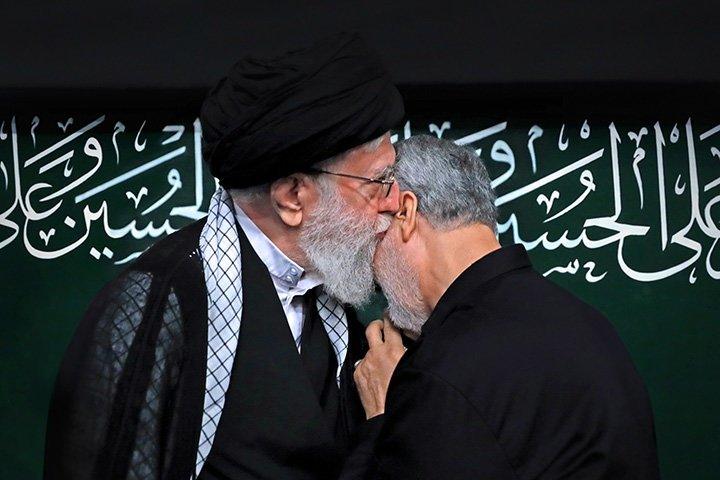 File photo ofKhameneiwith Soleimani.