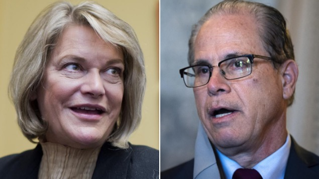Rep. Cynthia Lummis and Sen. Mike Braun.