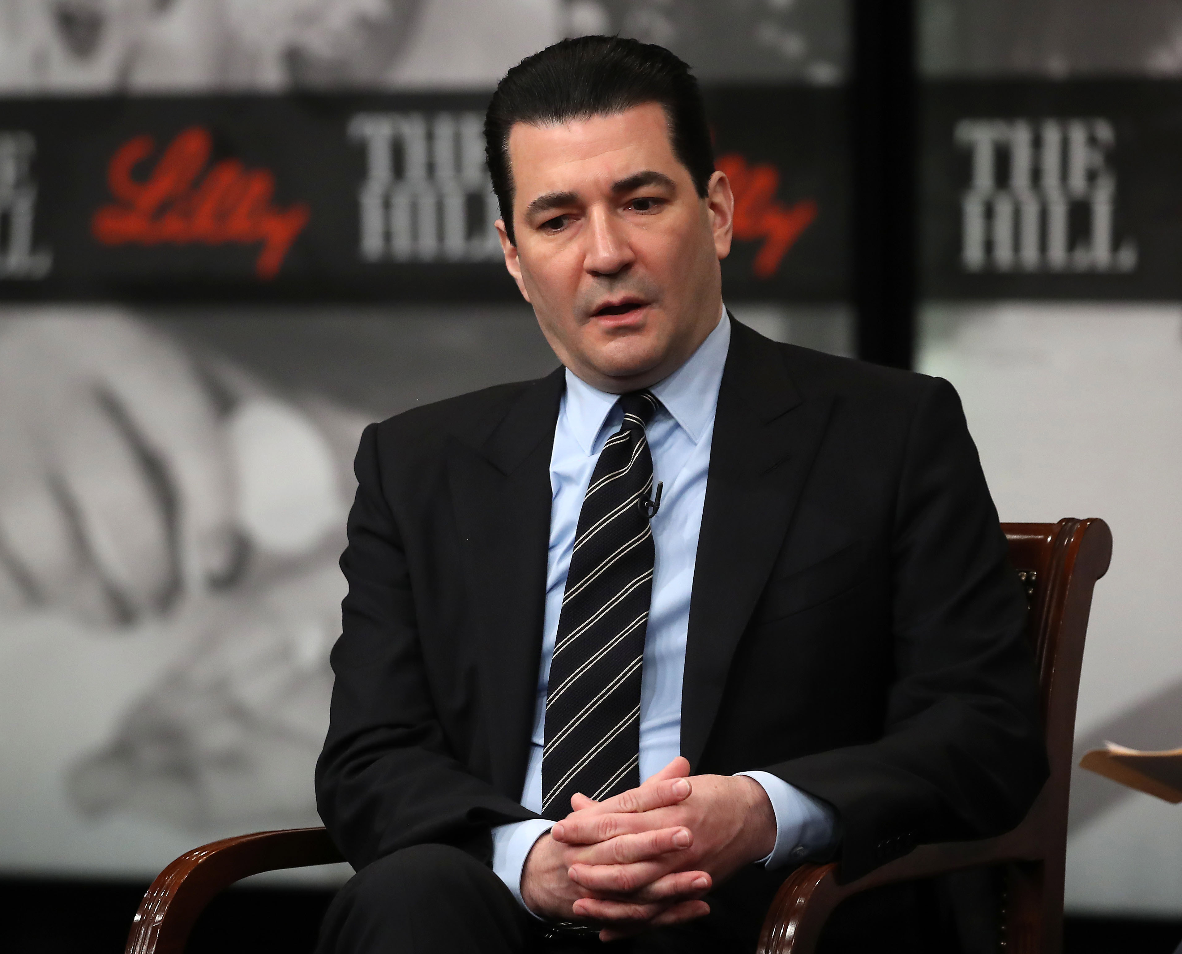 Dr. Scott Gottlieb, former commissioner of the US Food and Drug Administration, speaks at the Newseum on March 6, 2019 in Washington.