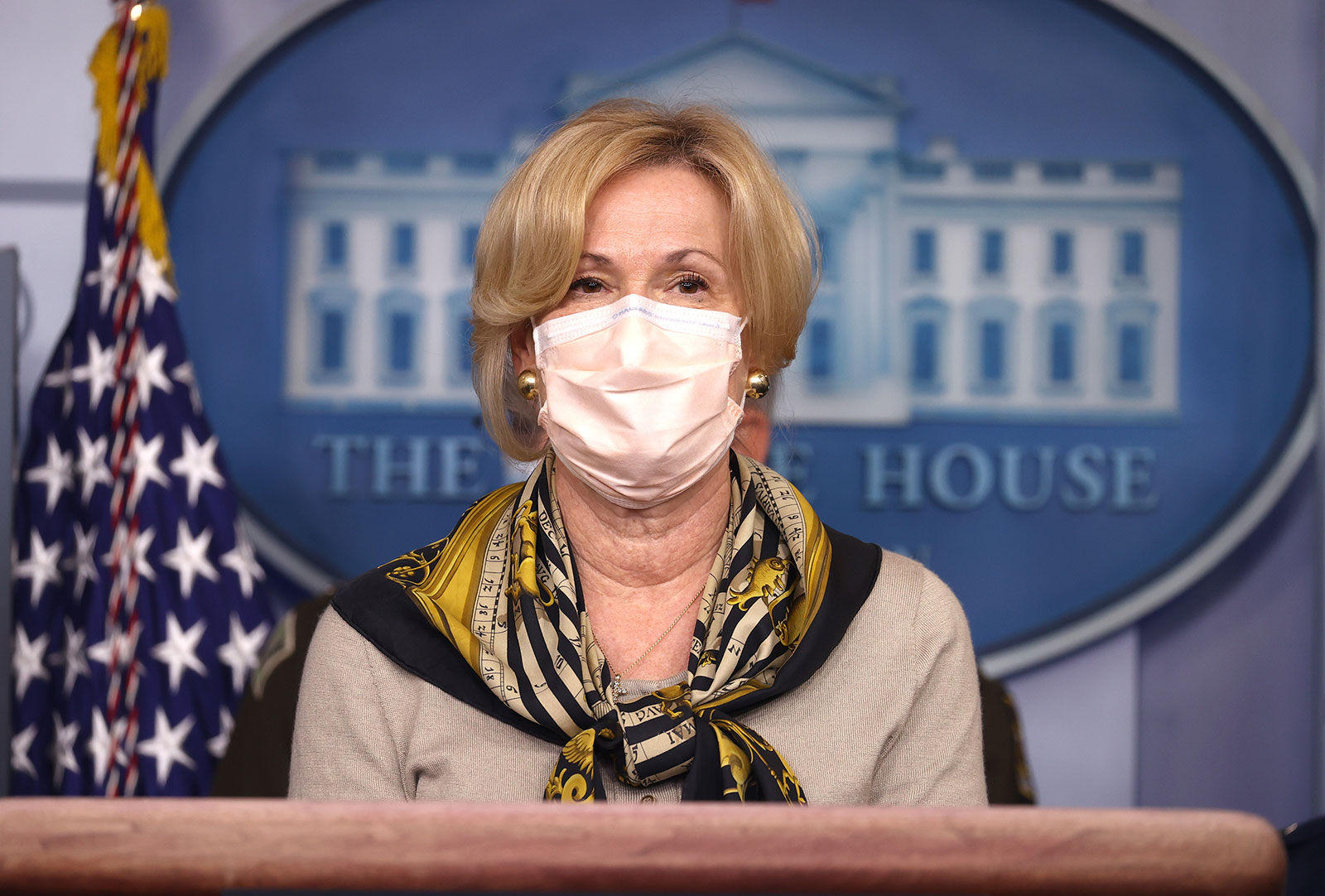 Dr. Deborah Birx speaks during a coronavirus task force briefing at the White House on November 19.