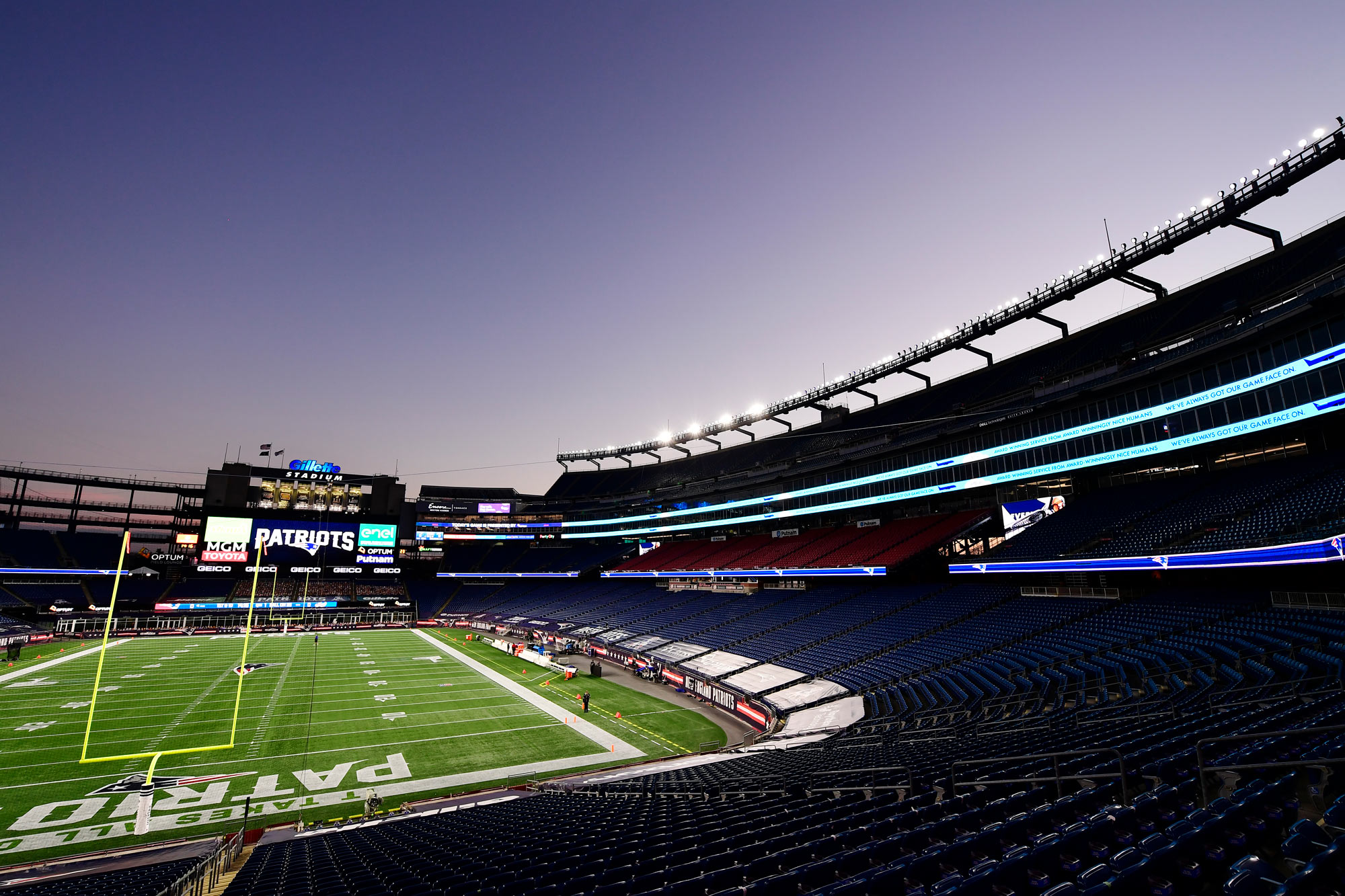 A general view of Gillette Stadium is seen on December 28, 2020, in Foxborough, Massachusetts.