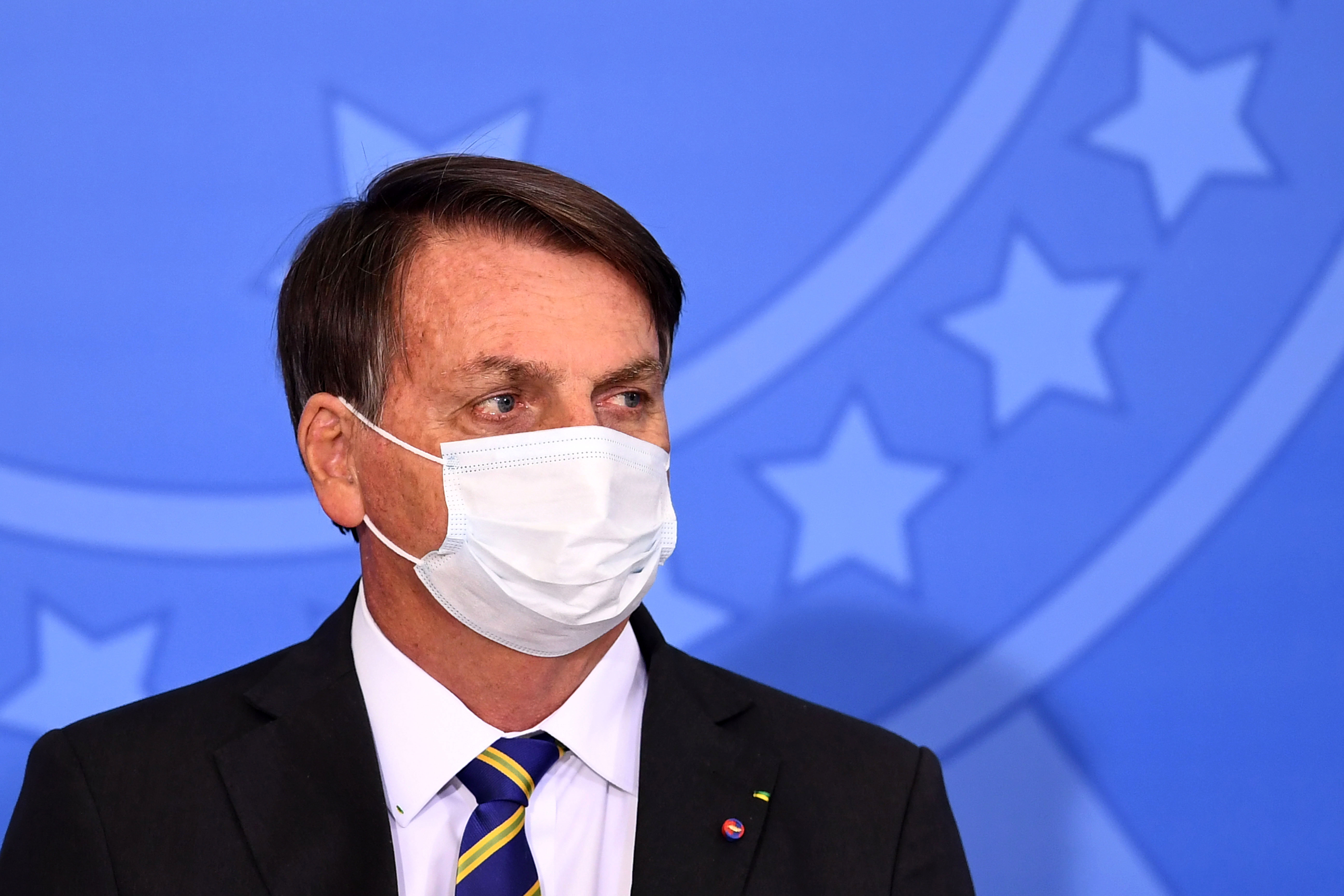 Brazil's President Jair Bolsonaro attends an event at Planalto Palace in Brasília on July 29.